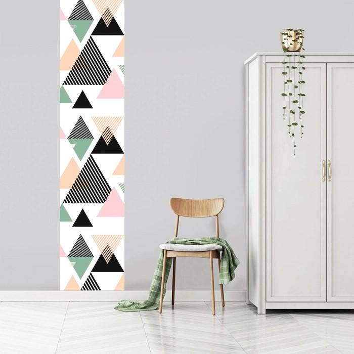 acheter papier peint triangle multicolore