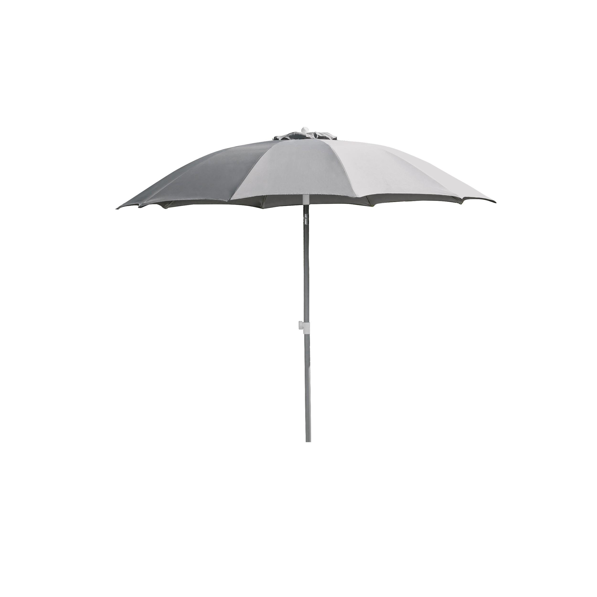 Parasol Calabria gris argent : découvrez les parasols Calabria
