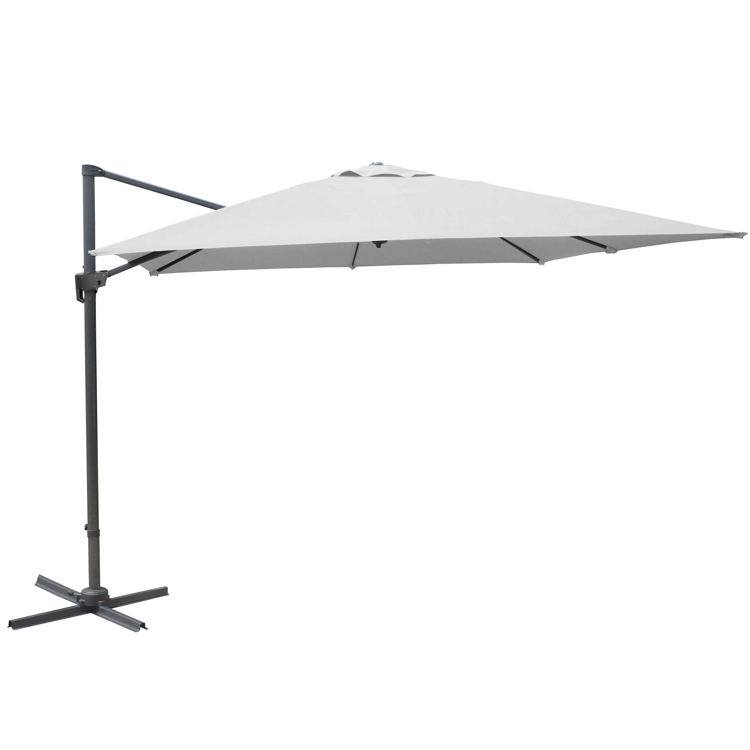 acheter parasol inclinable blanc toile