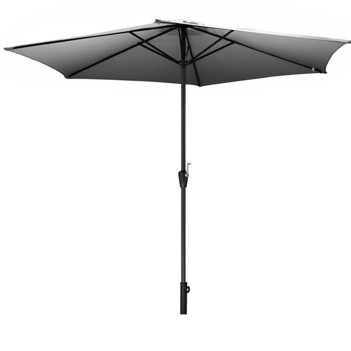acheter parasol toile grise avec manivelle
