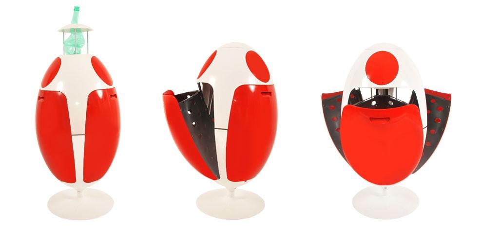 poubelle ovetto blanc et rouge craquez pour une poubelle de tri s lectif rdv d co. Black Bedroom Furniture Sets. Home Design Ideas