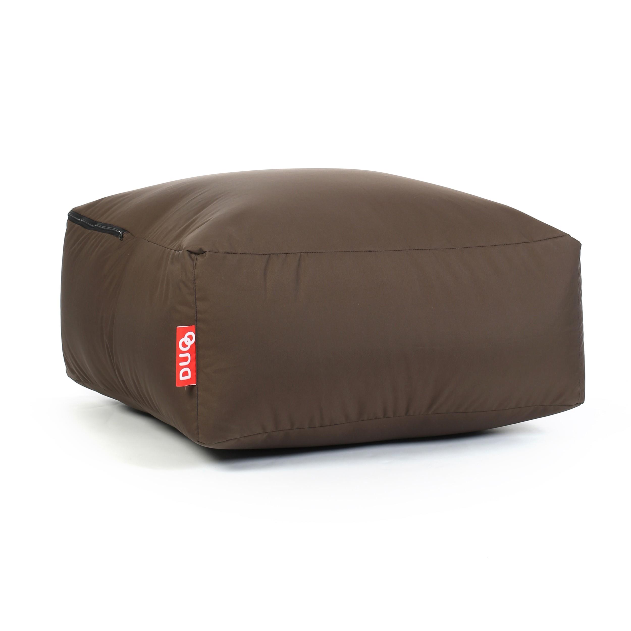 acheter pouf carre marron confort