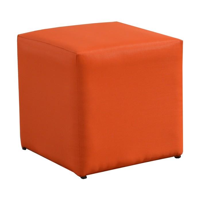 acheter pouf carre orange