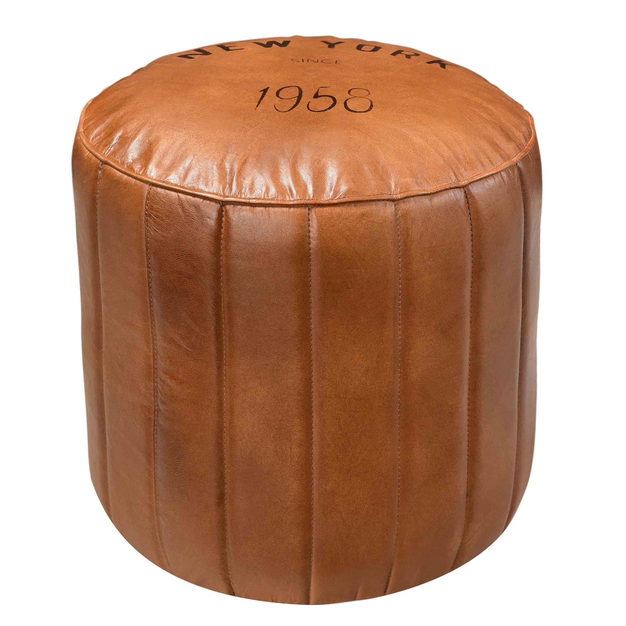 pouf rond en cuir bally d couvrez nos poufs ronds en cuir bally design rdv d co. Black Bedroom Furniture Sets. Home Design Ideas
