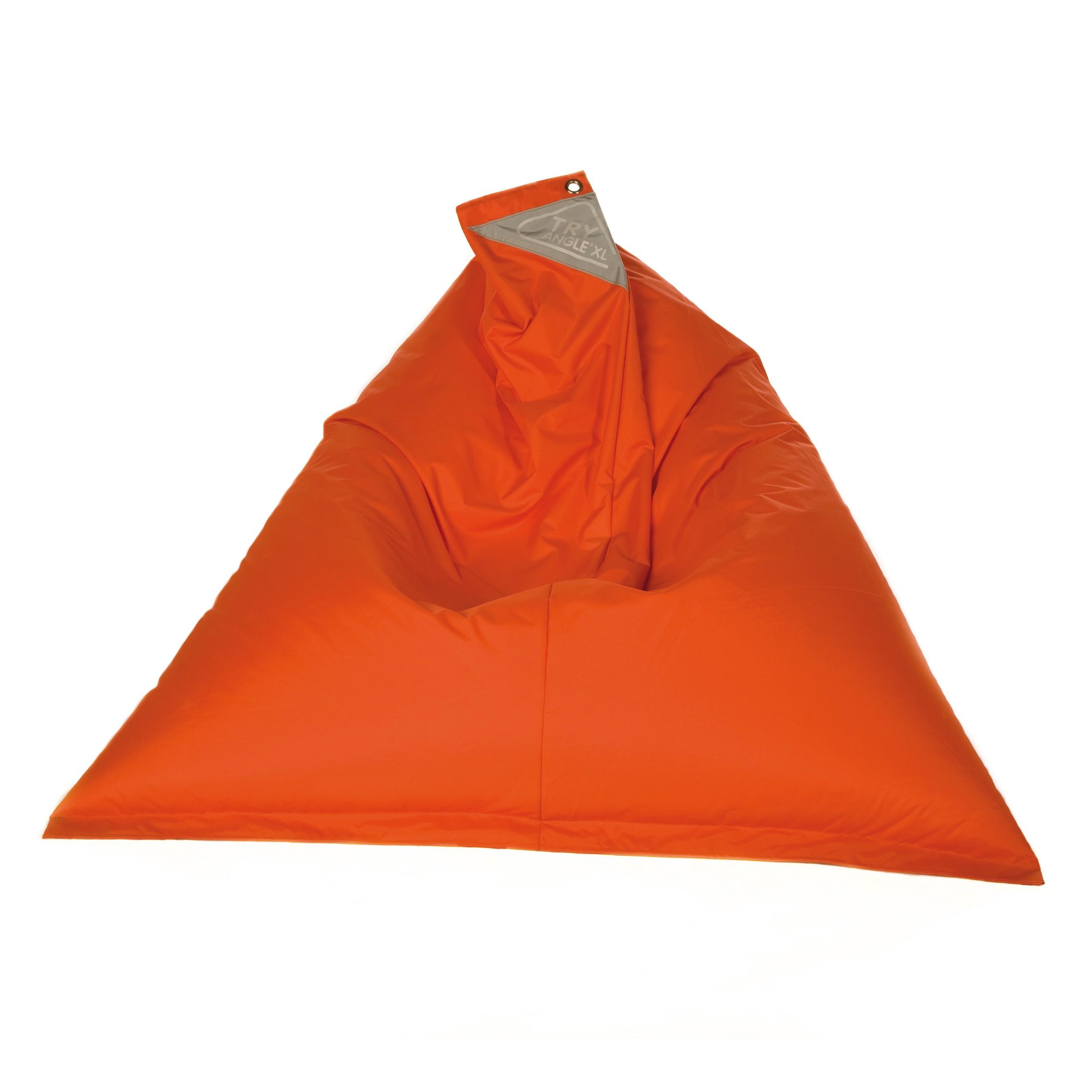 acheter pouf orange confortable