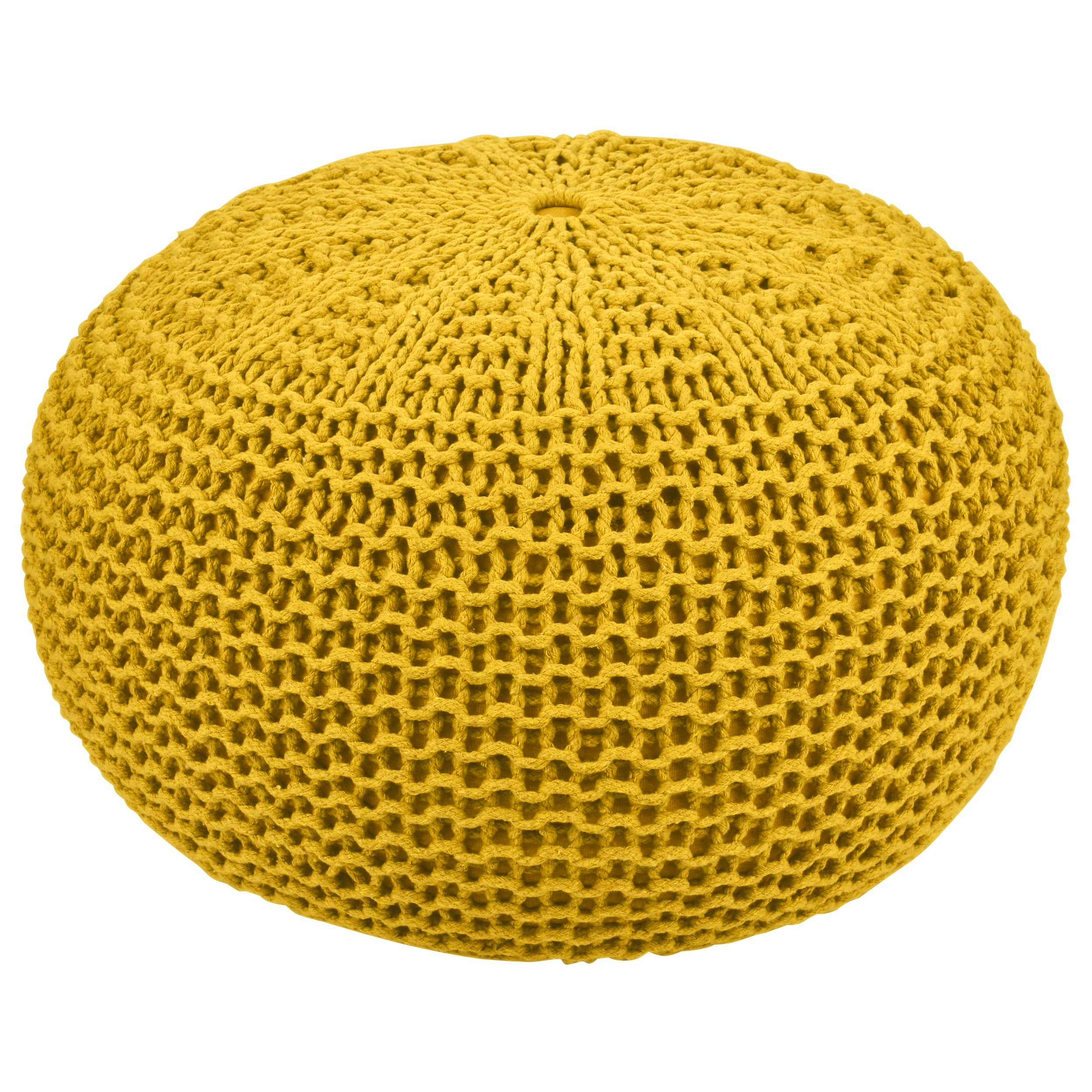 Comment Faire Du Jaune Moutarde pouf tricot jaune moutarde elsa ∅40cm