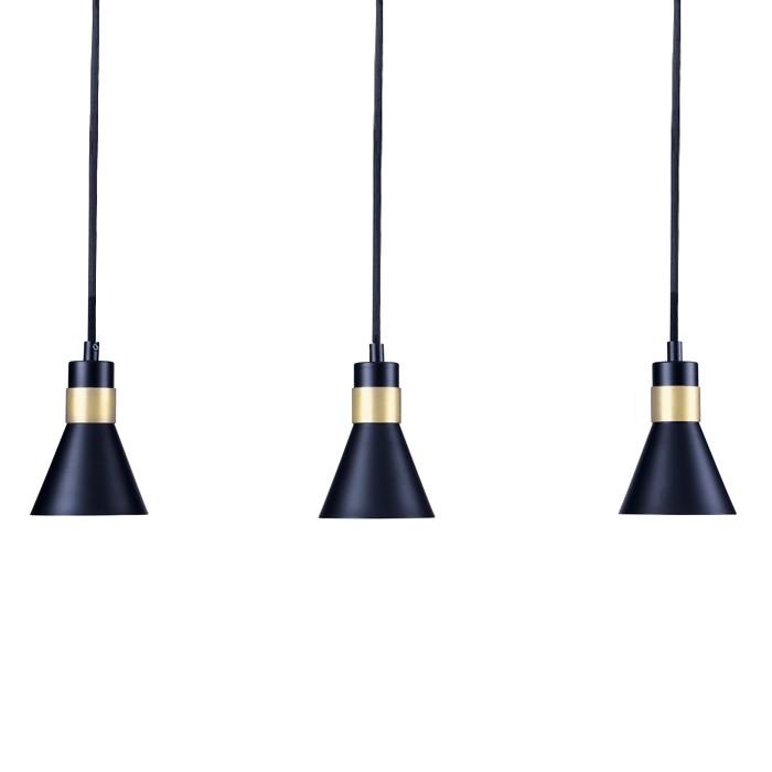 acheter suspension metal design noires