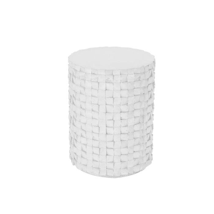acheter table appoint beton blanc design