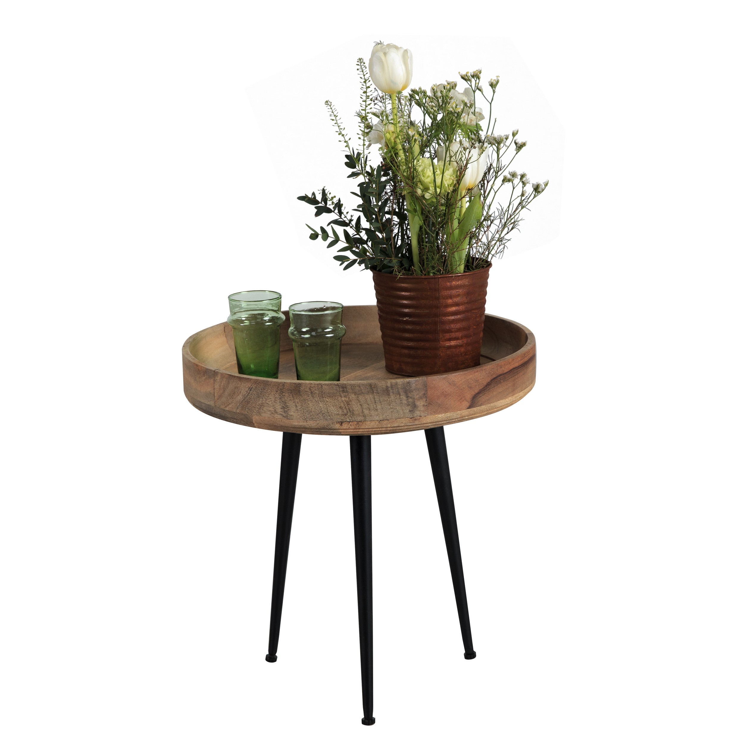 table basse ronde chiba bois clair choisissez les tables. Black Bedroom Furniture Sets. Home Design Ideas