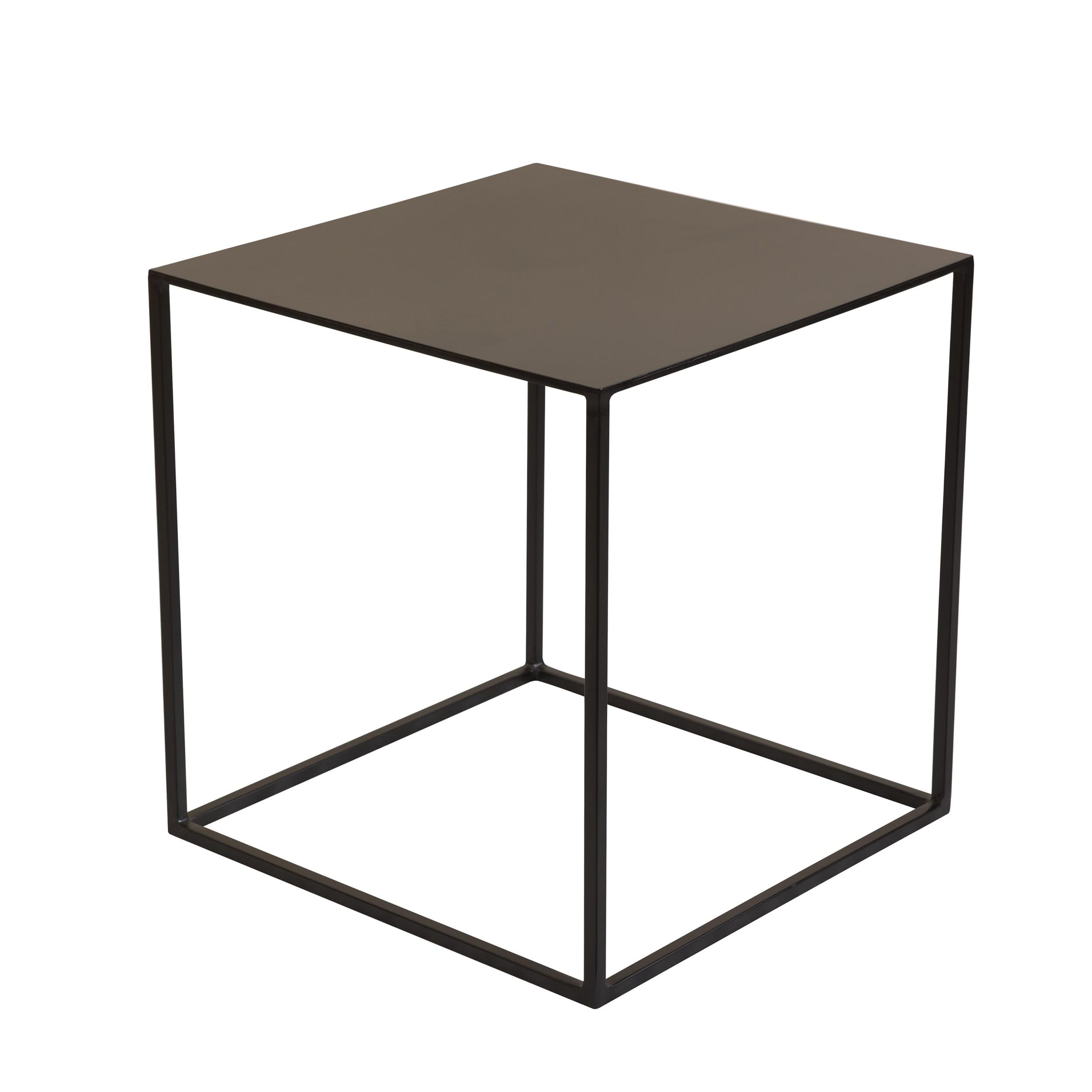 acheter table basse carree noire