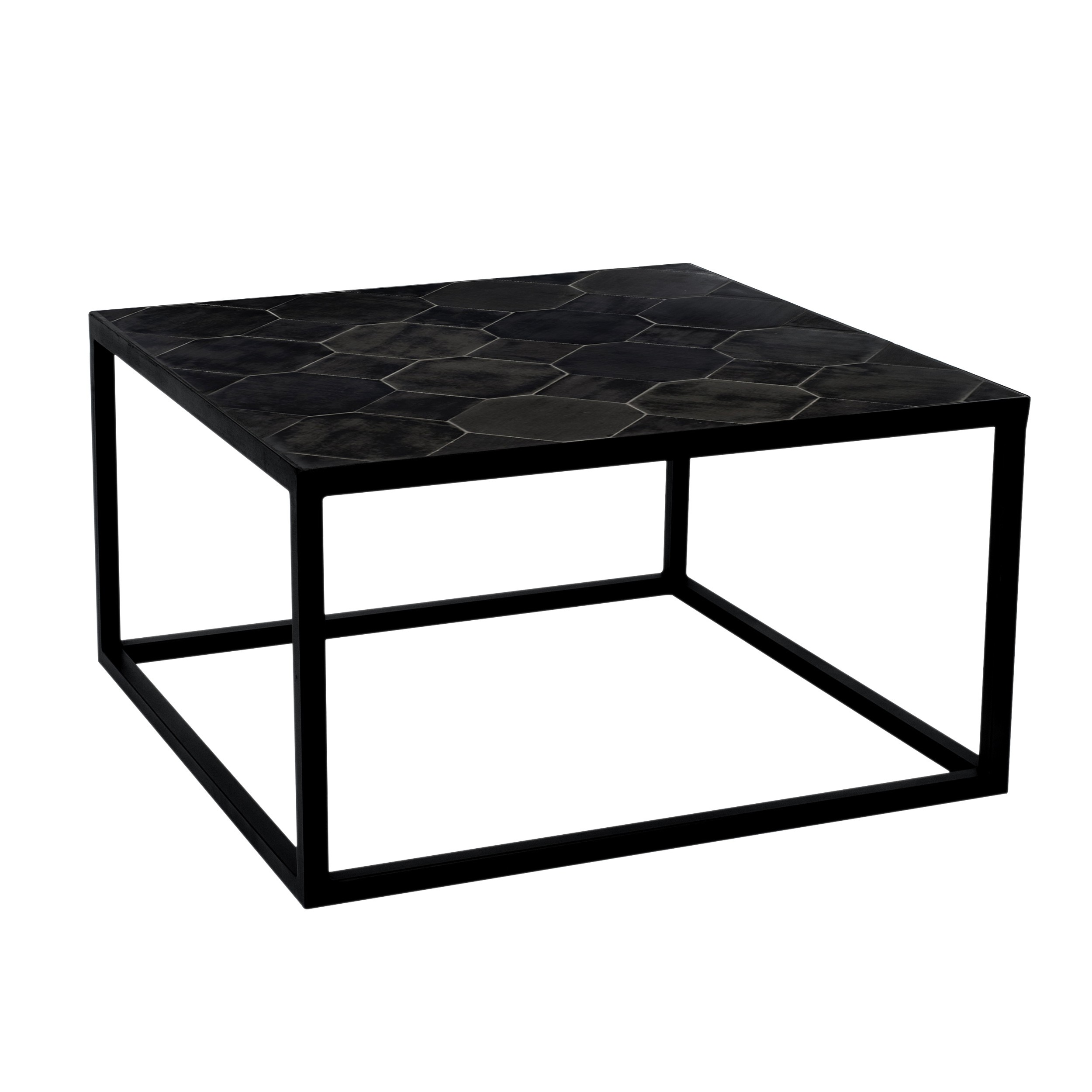 acheter table basse carree pieds metal