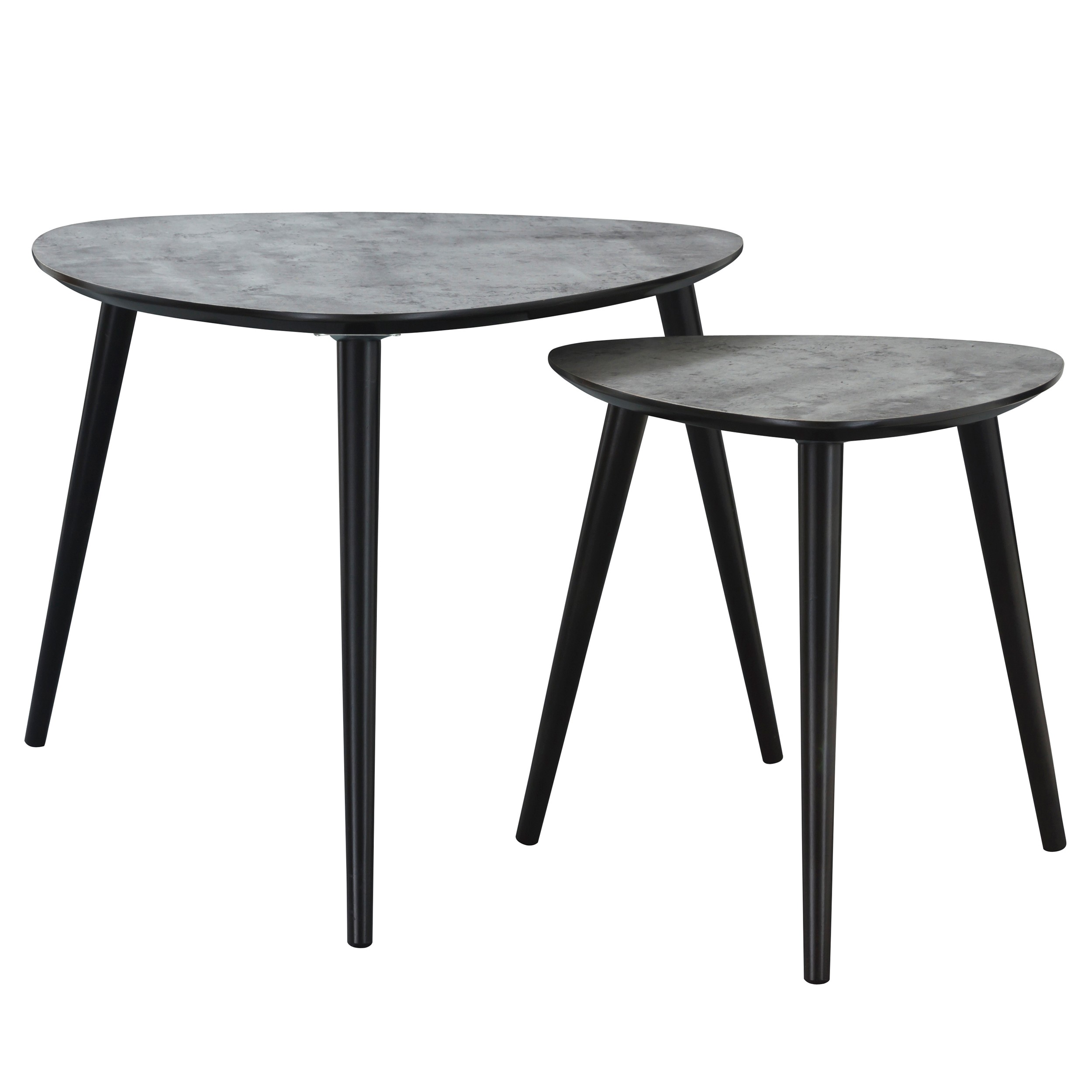 table basse scandinave effet b ton lot de 2 commandez. Black Bedroom Furniture Sets. Home Design Ideas