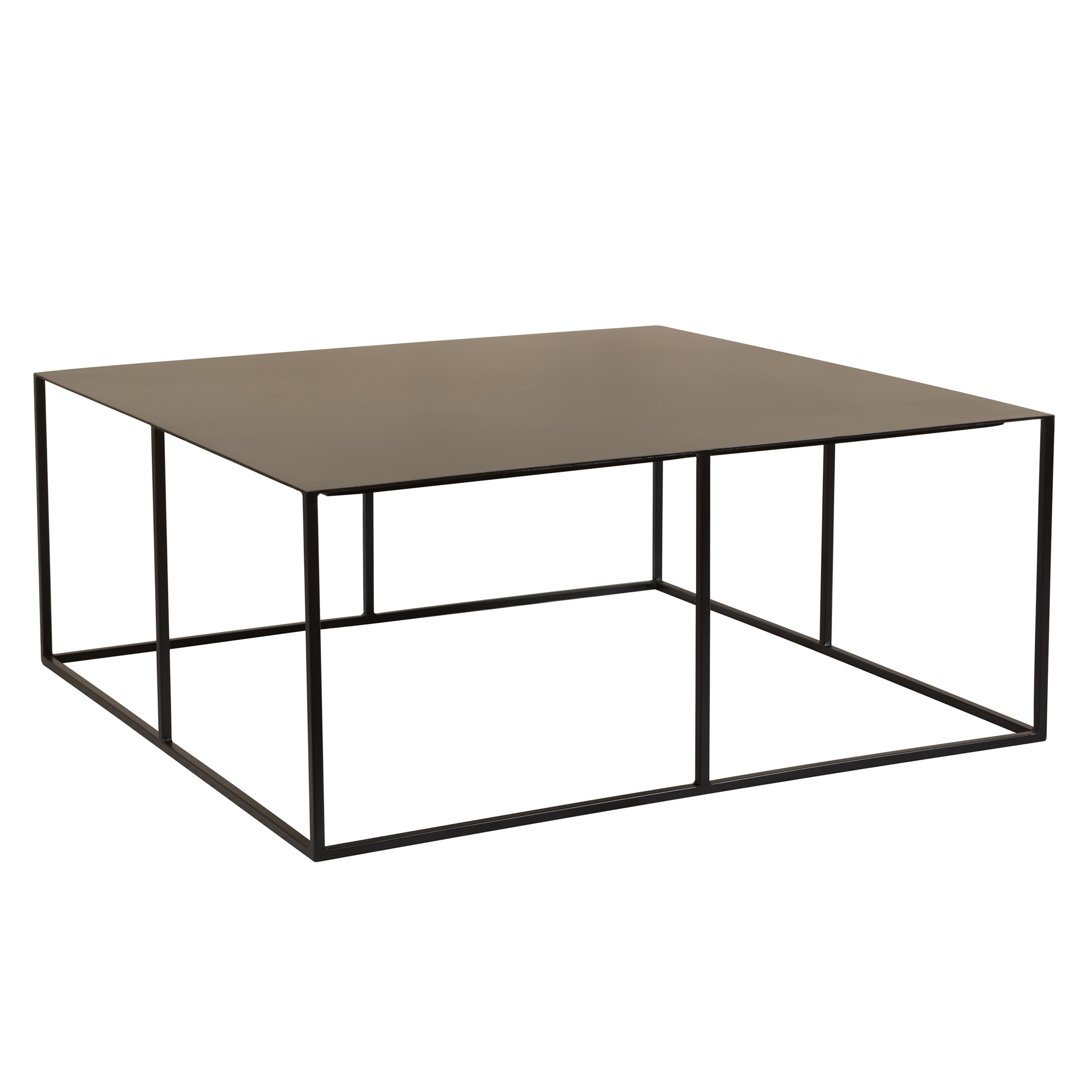 acheter table basse noire en metal