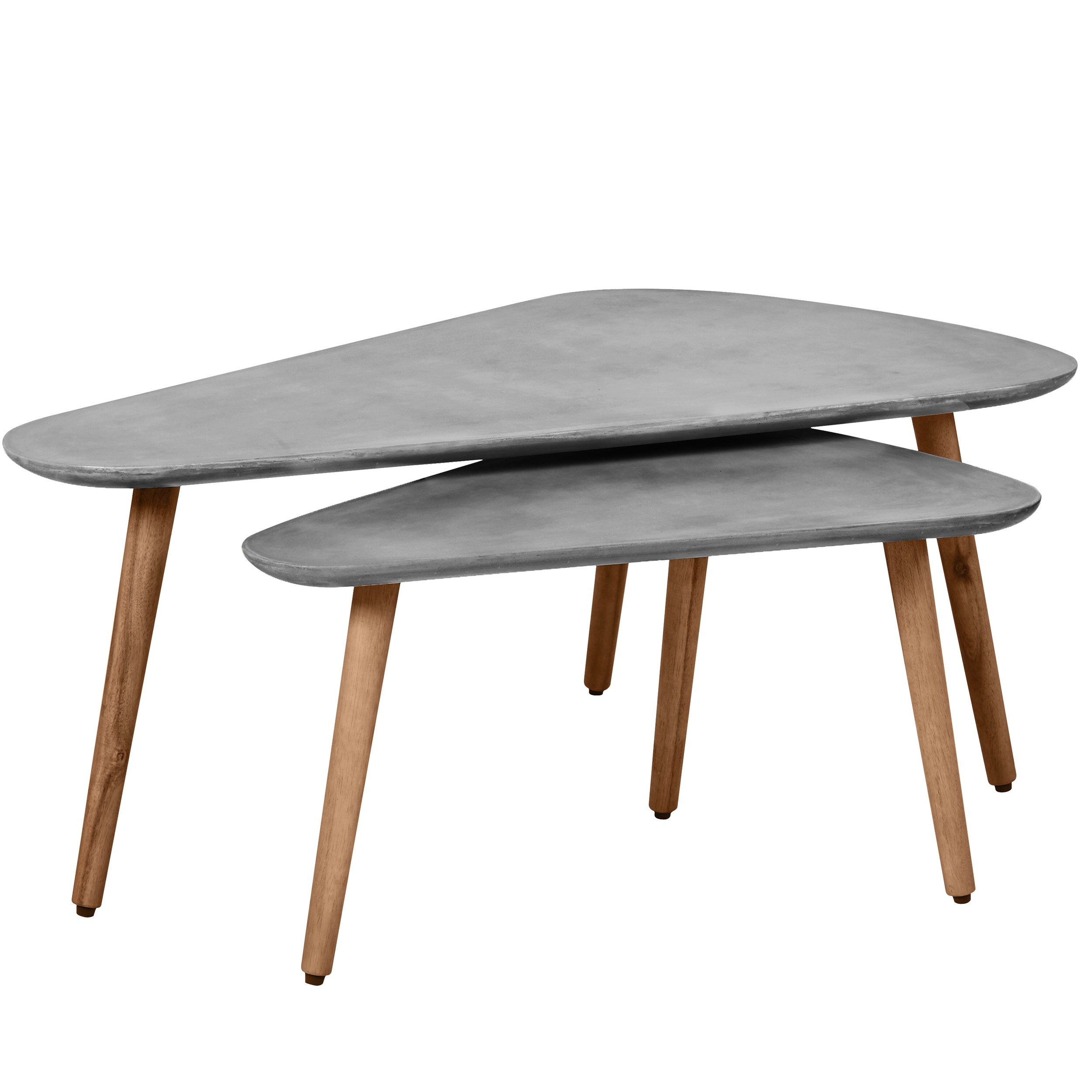 Table Basse Gigogne Albatros En Beton Lot De 2