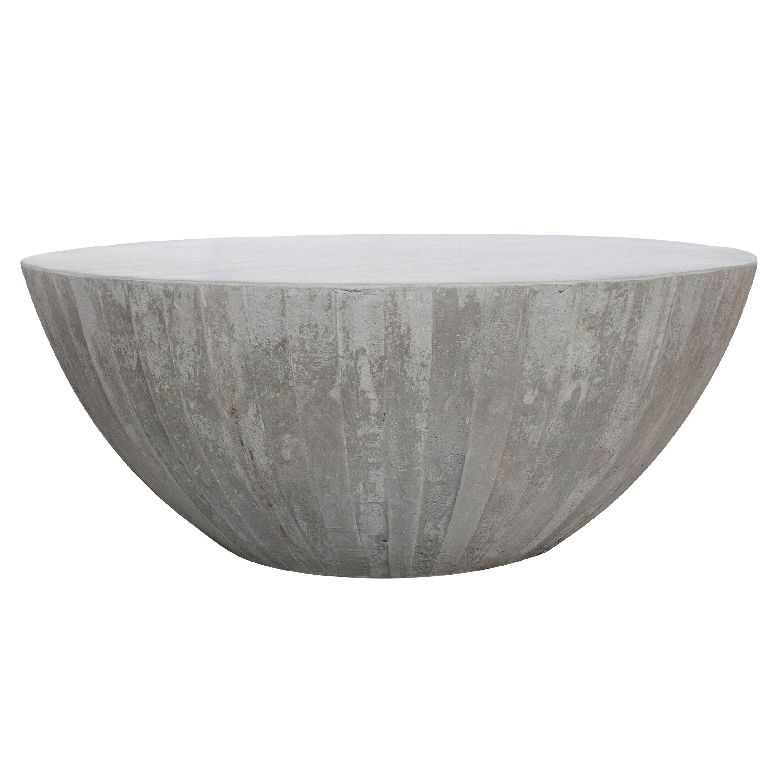 acheter table basse ronde beton