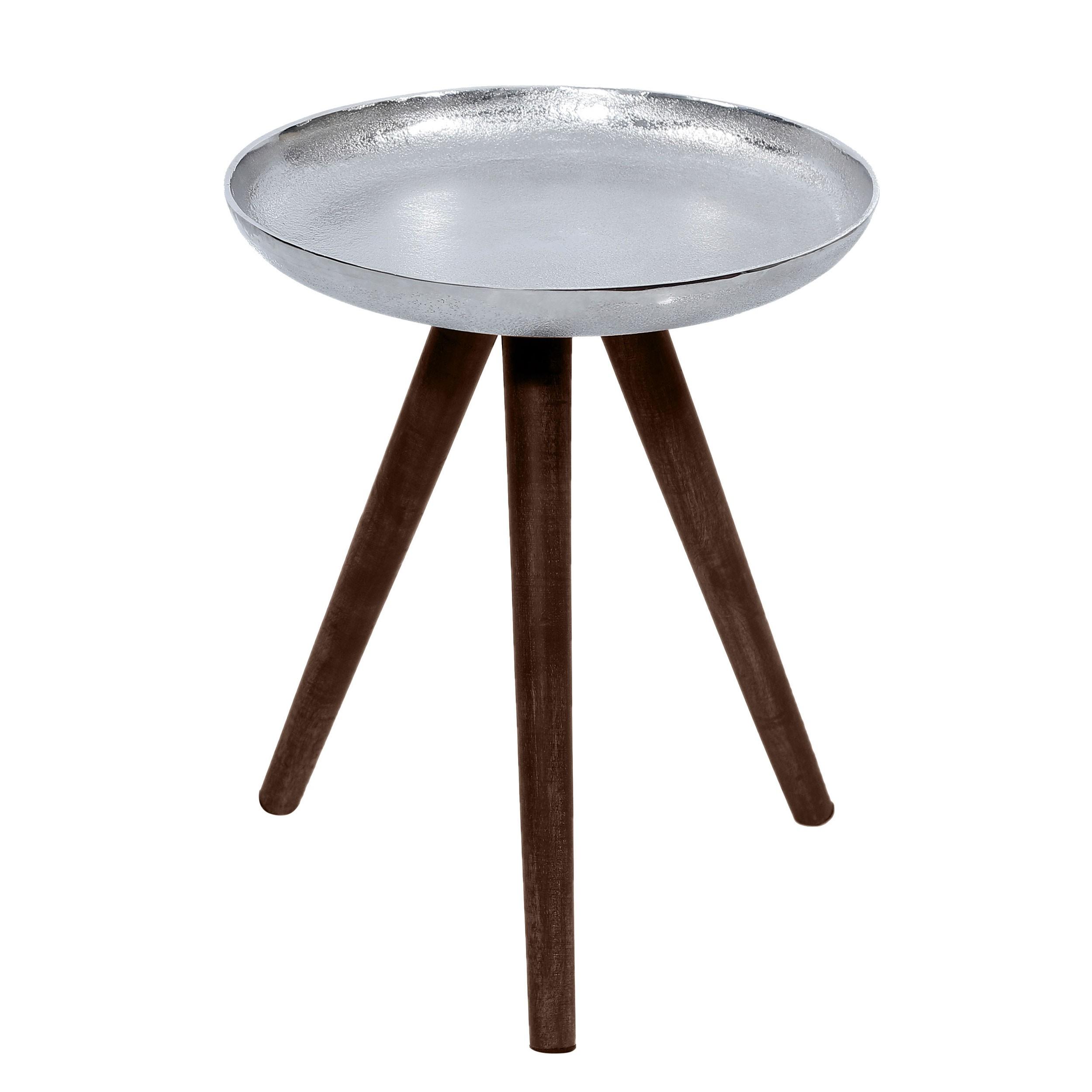 acheter table basse ronde chrome