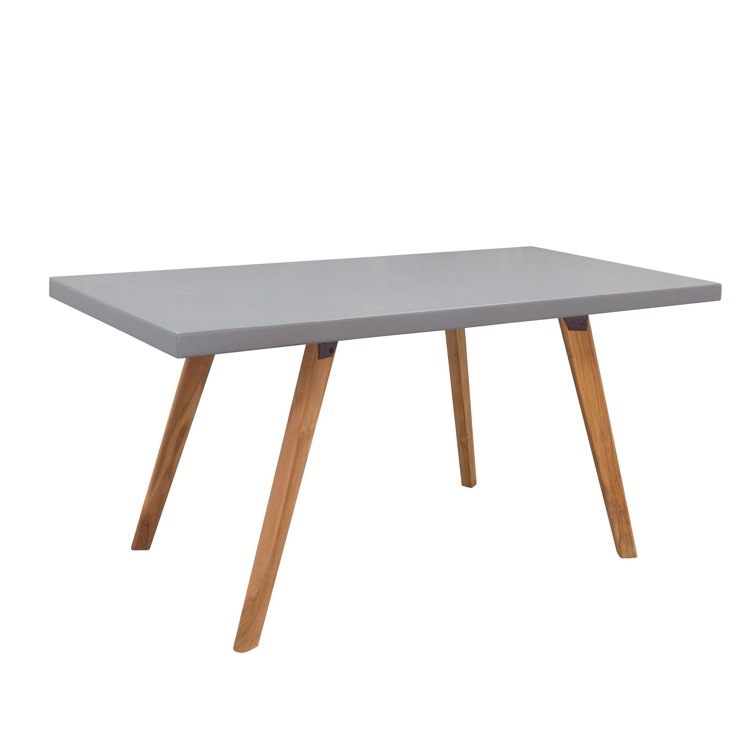acheter table beton 160 cm pieds bois