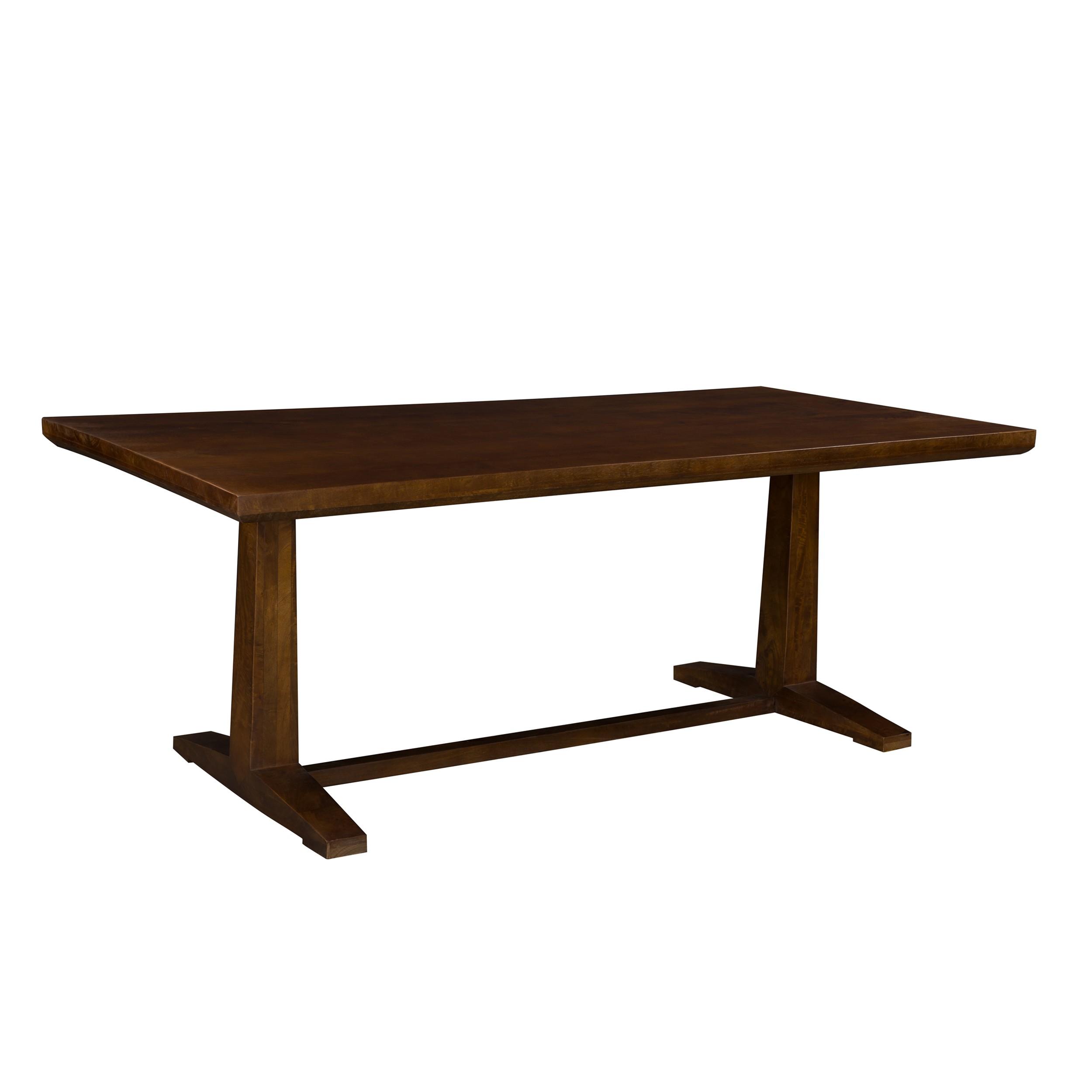 acheter table bois fonce 200 cm