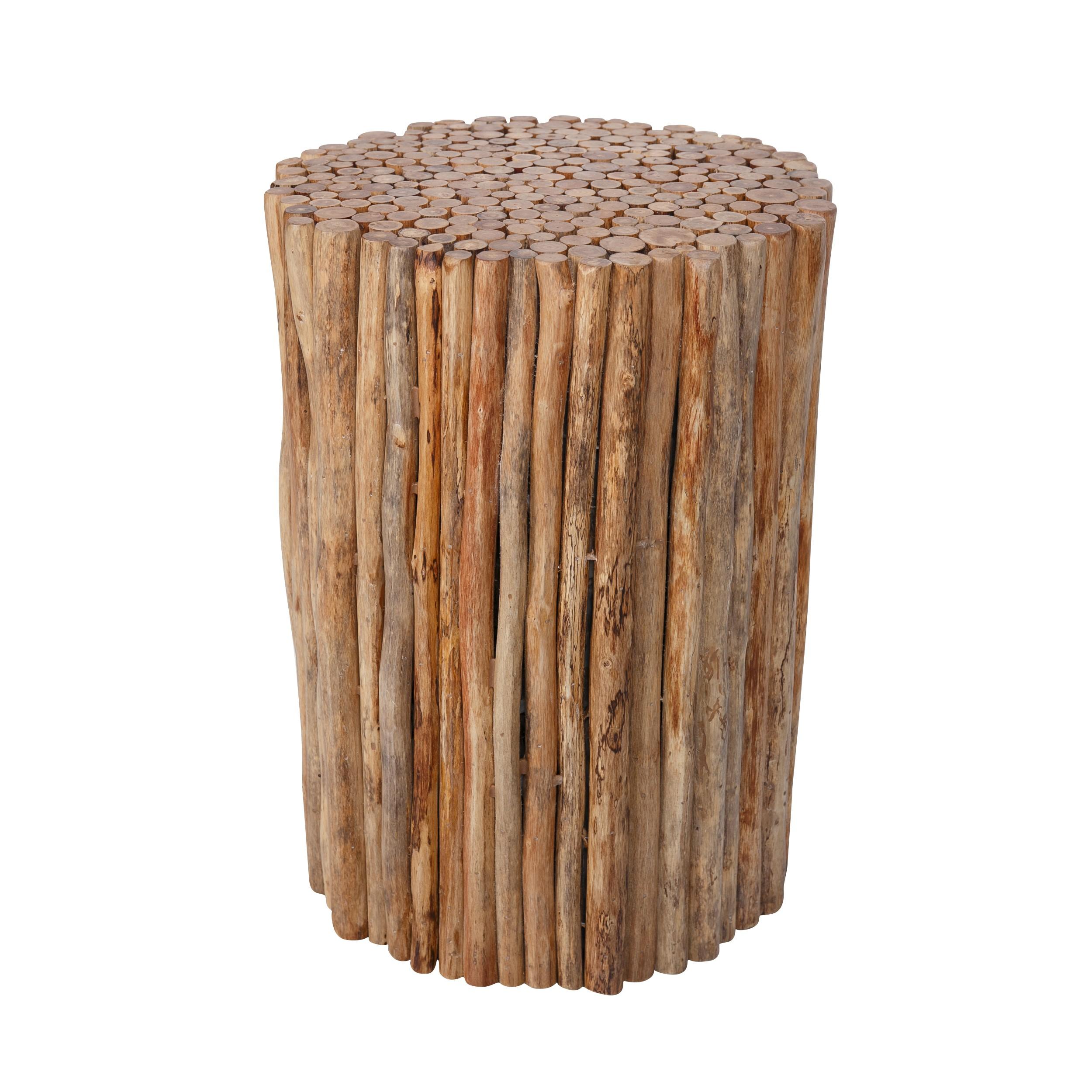Rondin De Bois Table De Chevet table d'appoint biba en bois