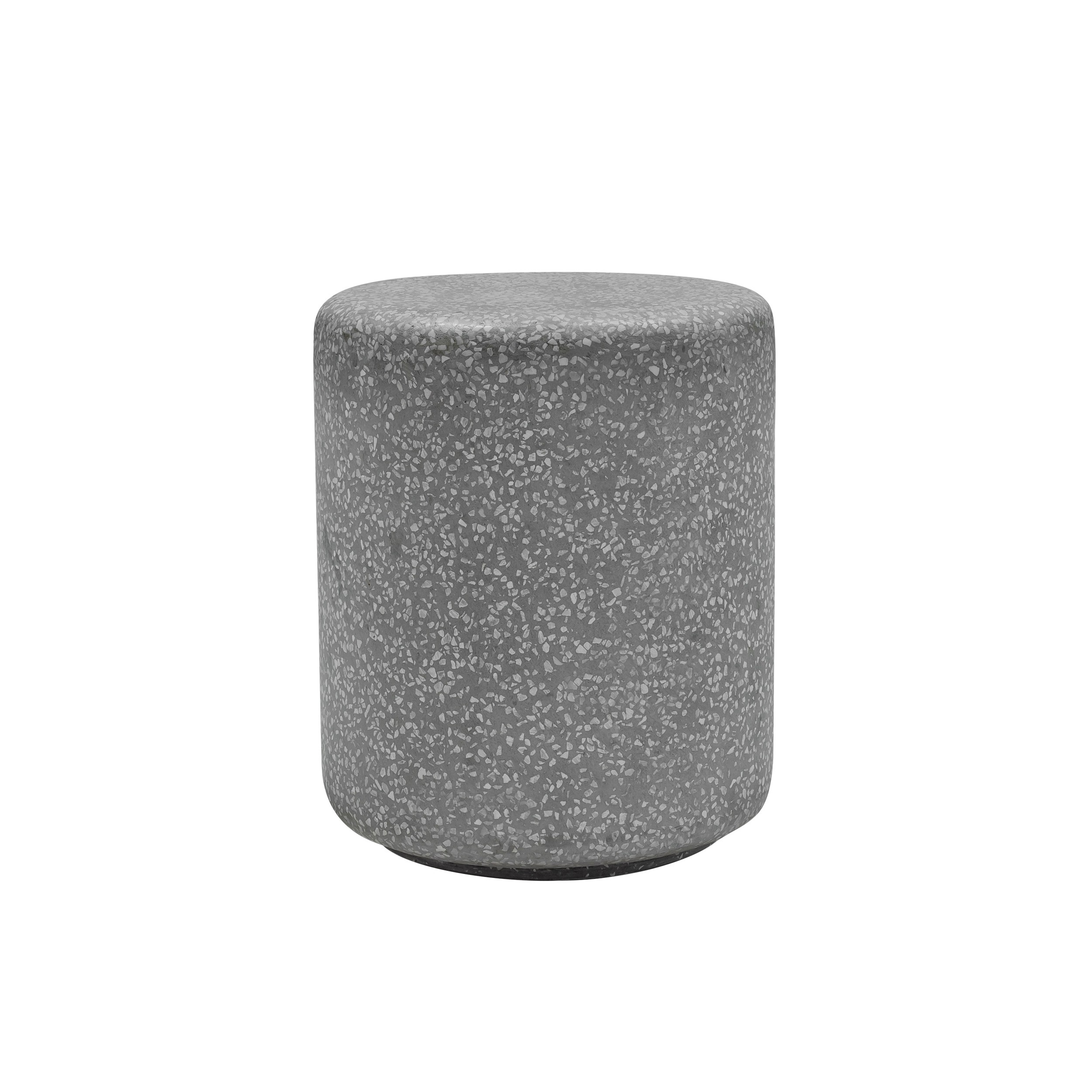 acheter table d appoint en terrazzo gris