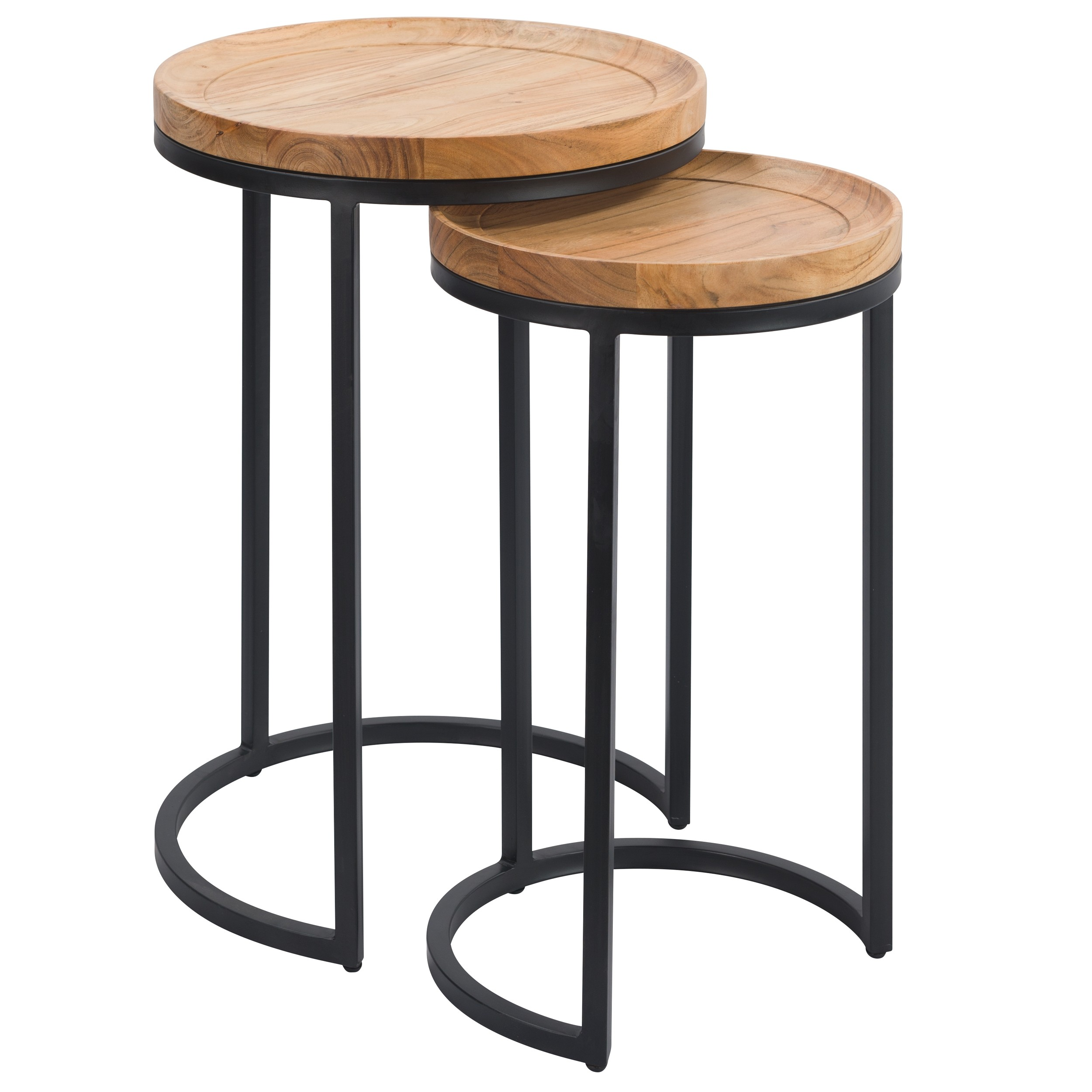 acheter table d appoint ronde lot de 2