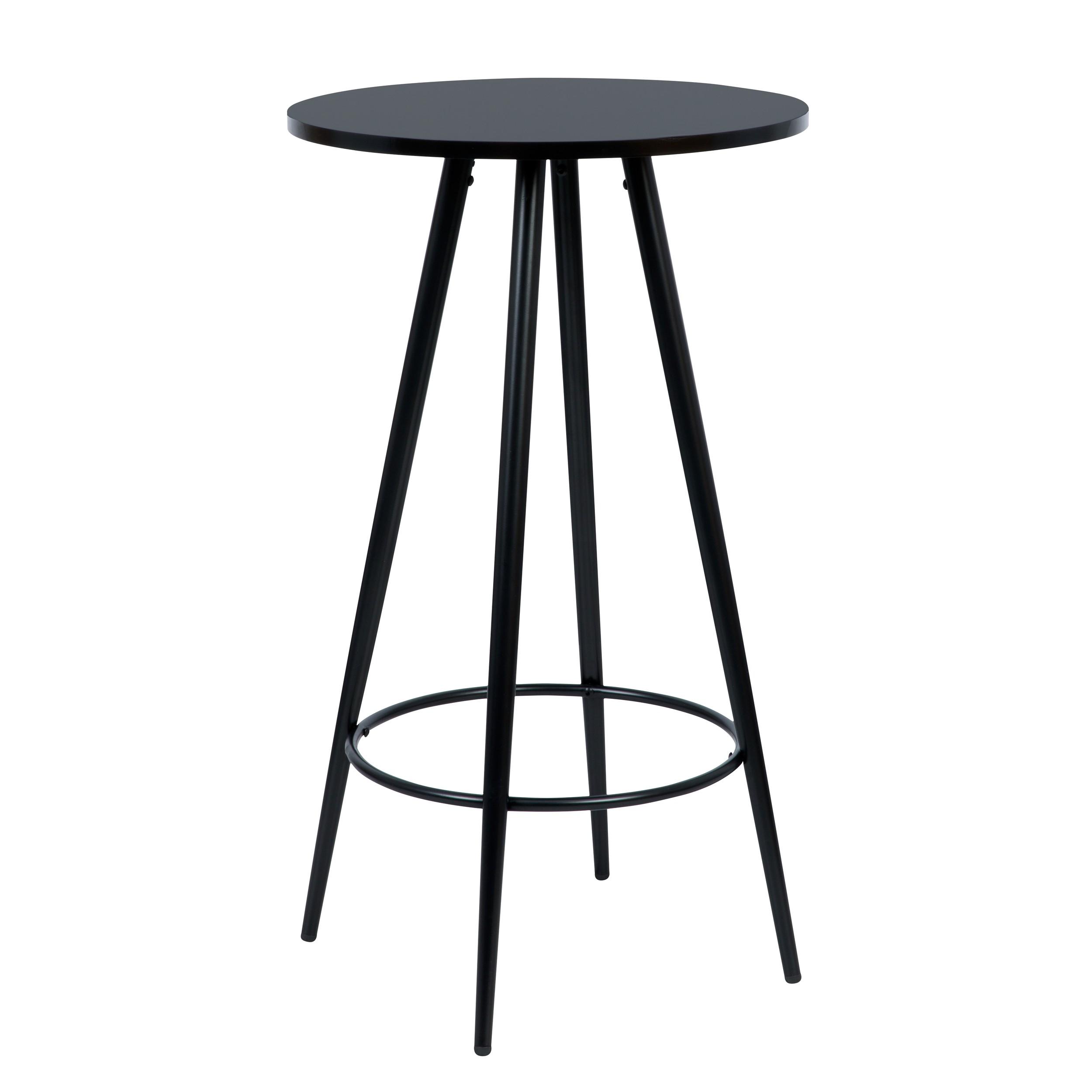 acheter table de bar ronde noire