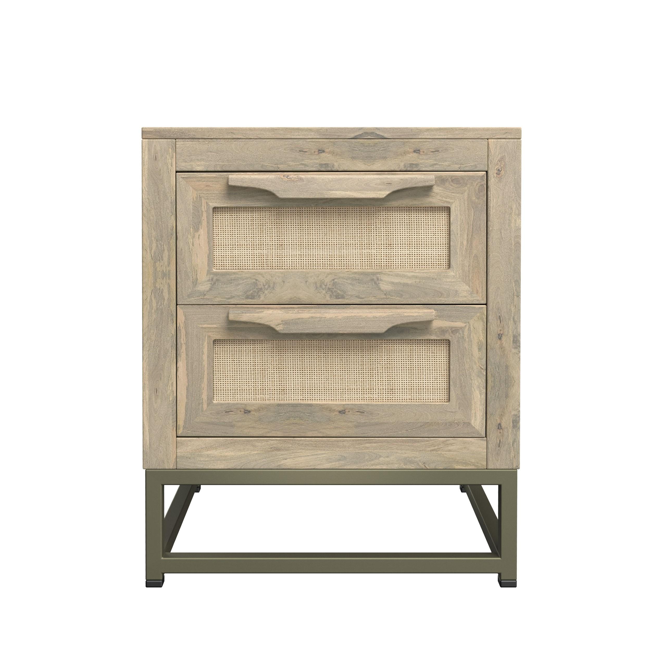 acheter table de chevet en bois de manguier patine