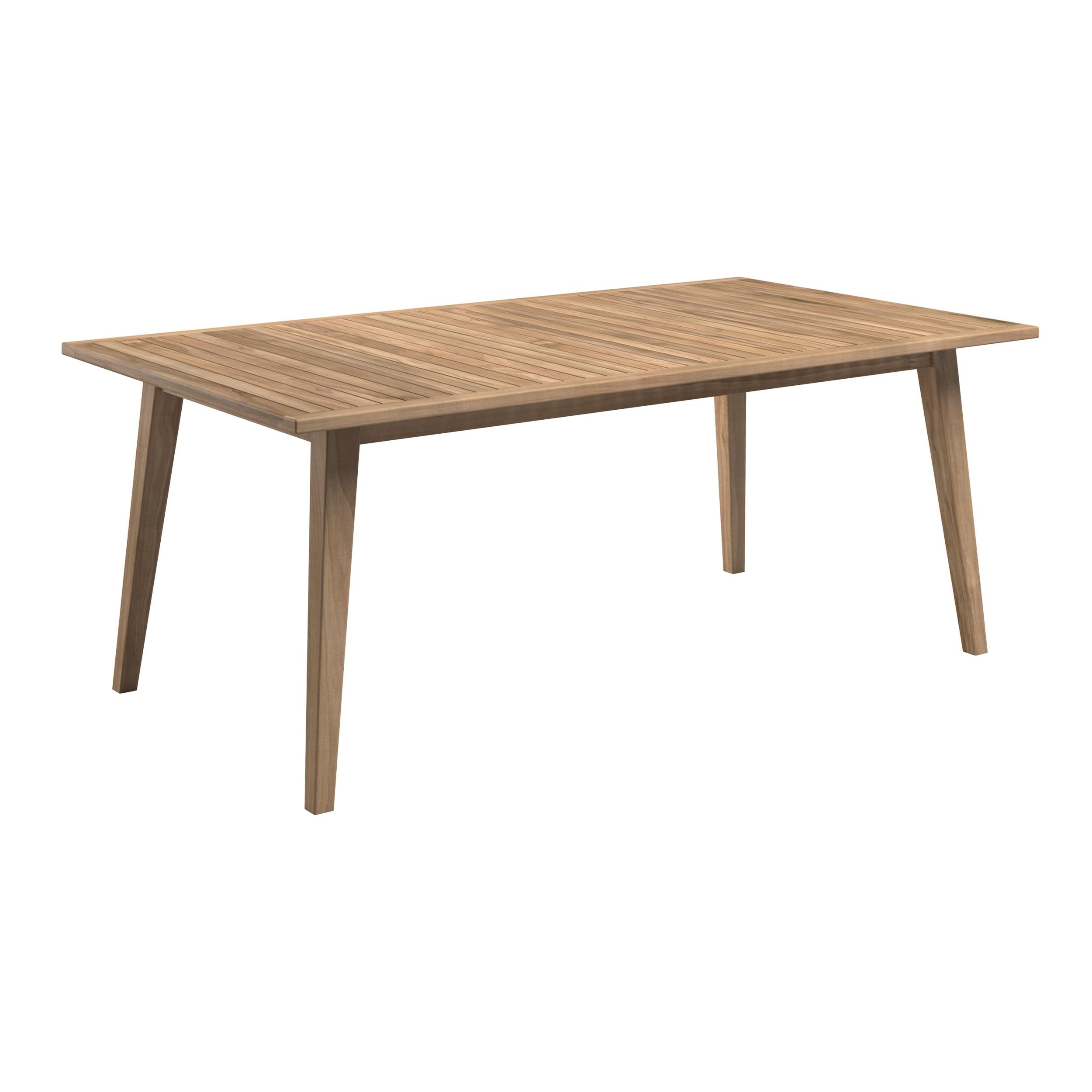 acheter table de jardin 180cm en bois de teck