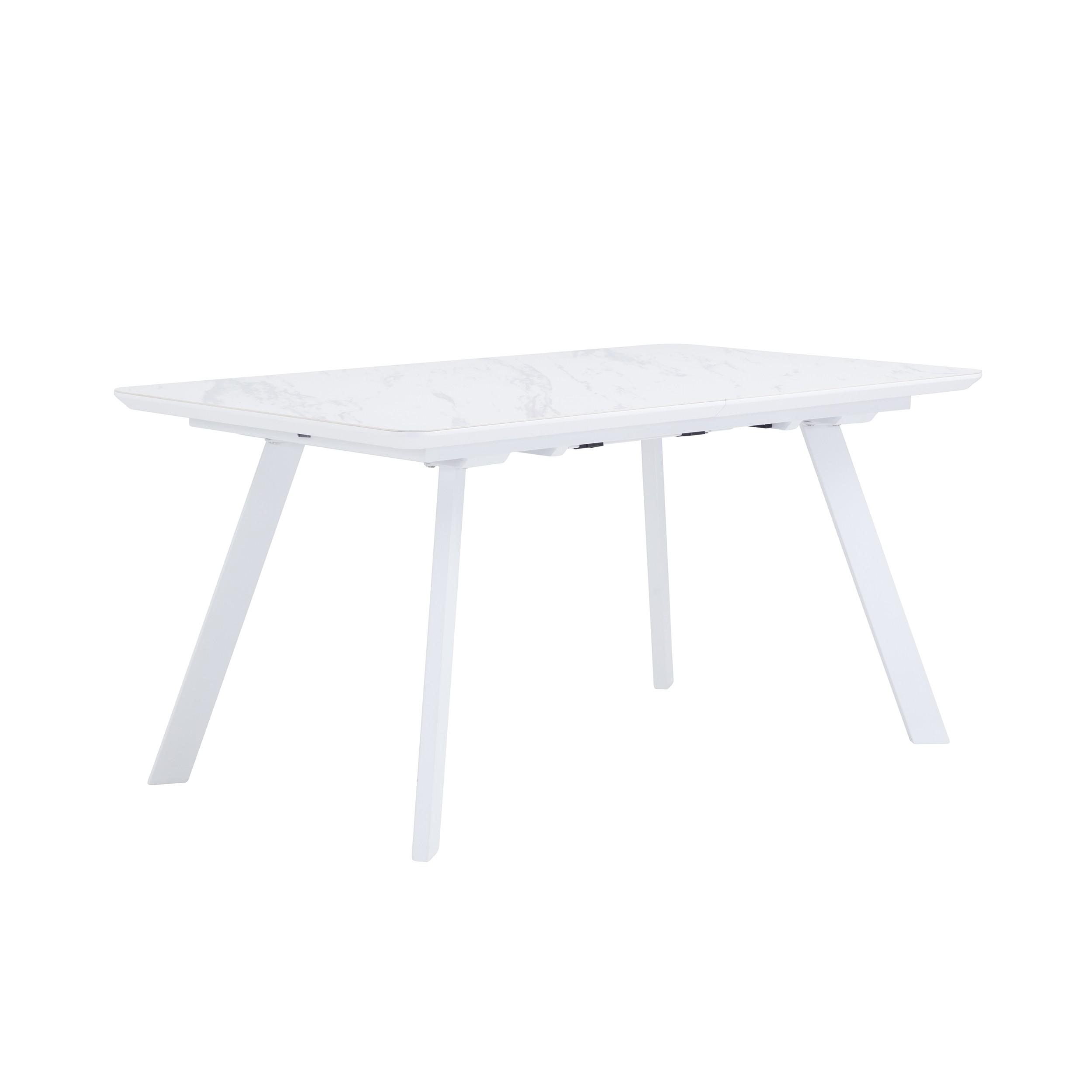 acheter table extensible blanche metal marbre