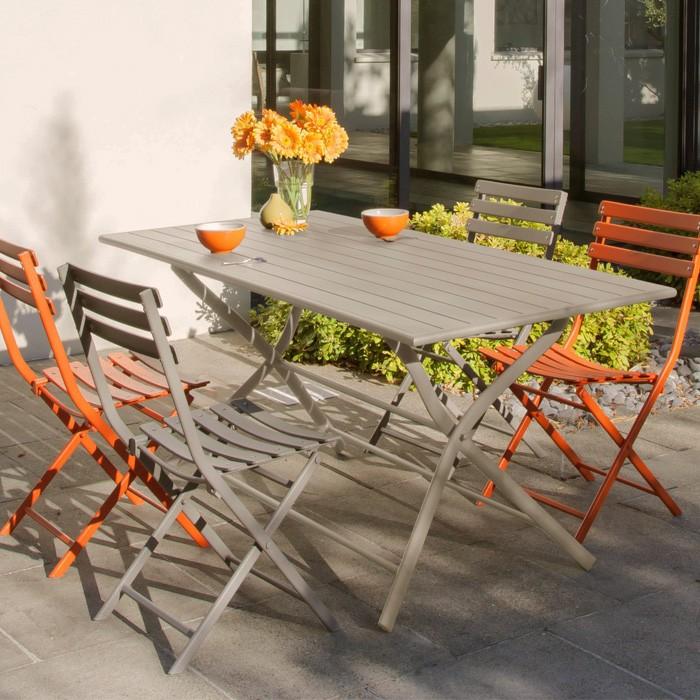 Table de jardin Globe pliante café 160 cm