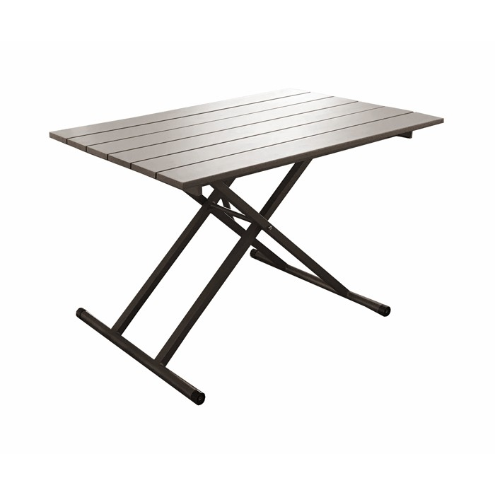Table de jardin café relevable 120 cm