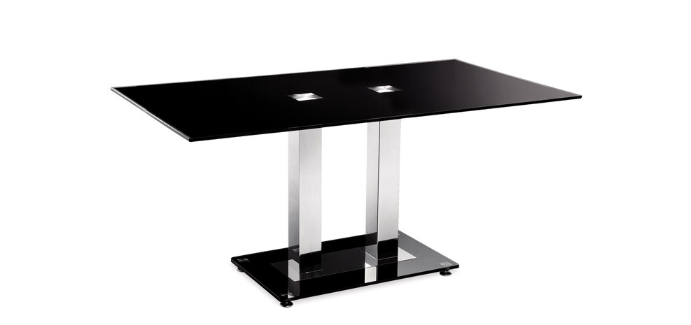 table en verre noir futura achetez nos tables en verre. Black Bedroom Furniture Sets. Home Design Ideas