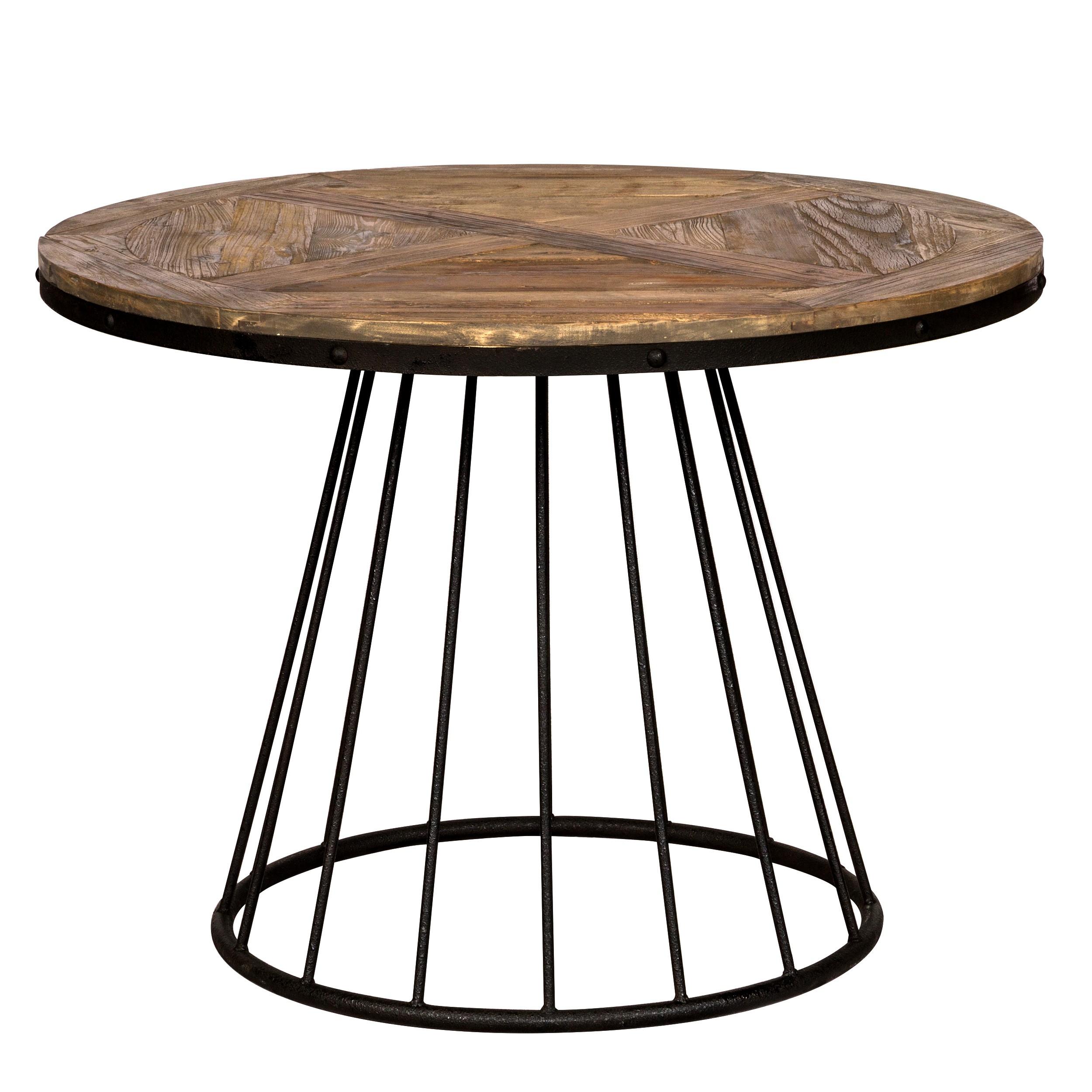 table pralus ronde en bois 110 cm commandez les tables. Black Bedroom Furniture Sets. Home Design Ideas