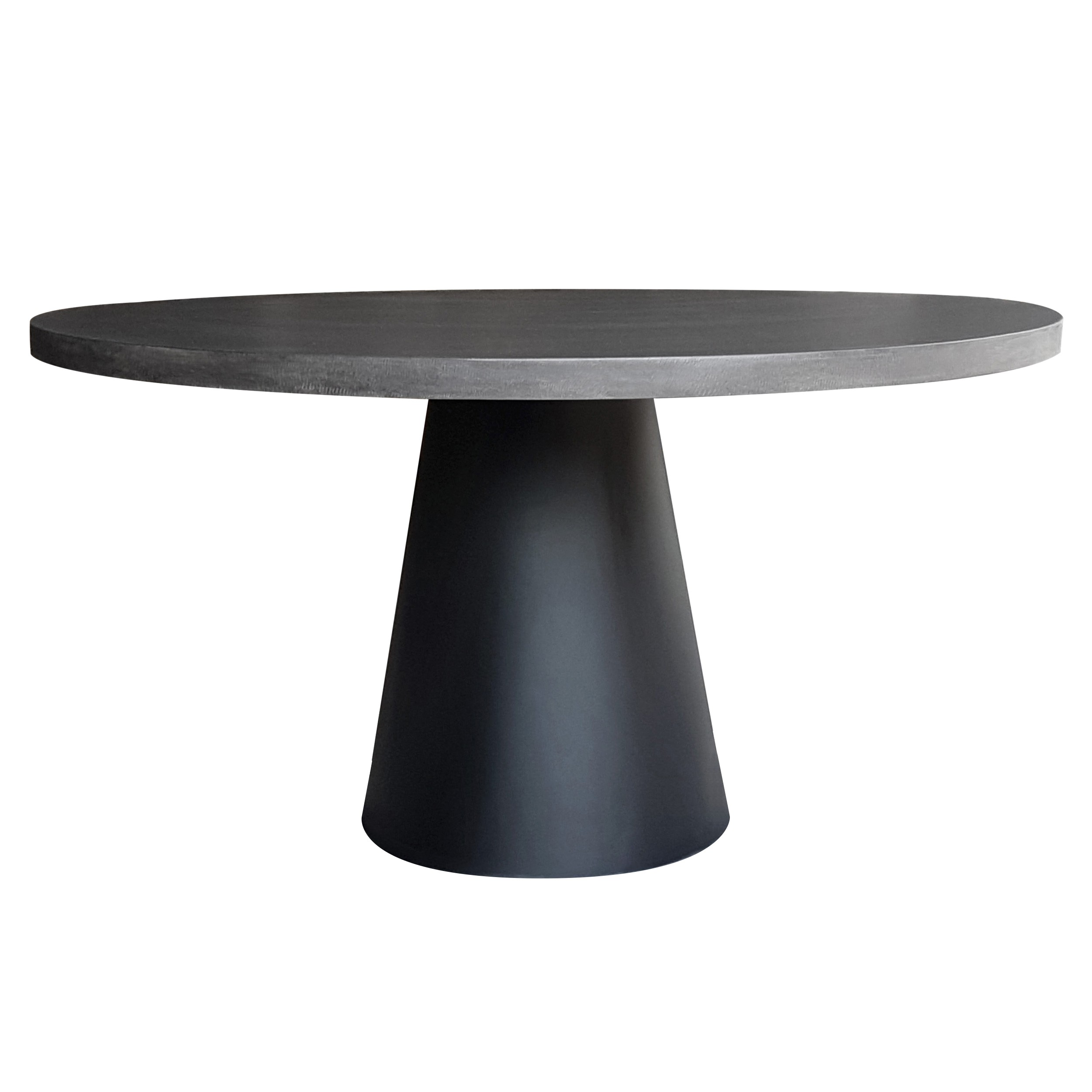 Table Fuji ronde lavastone 140cm