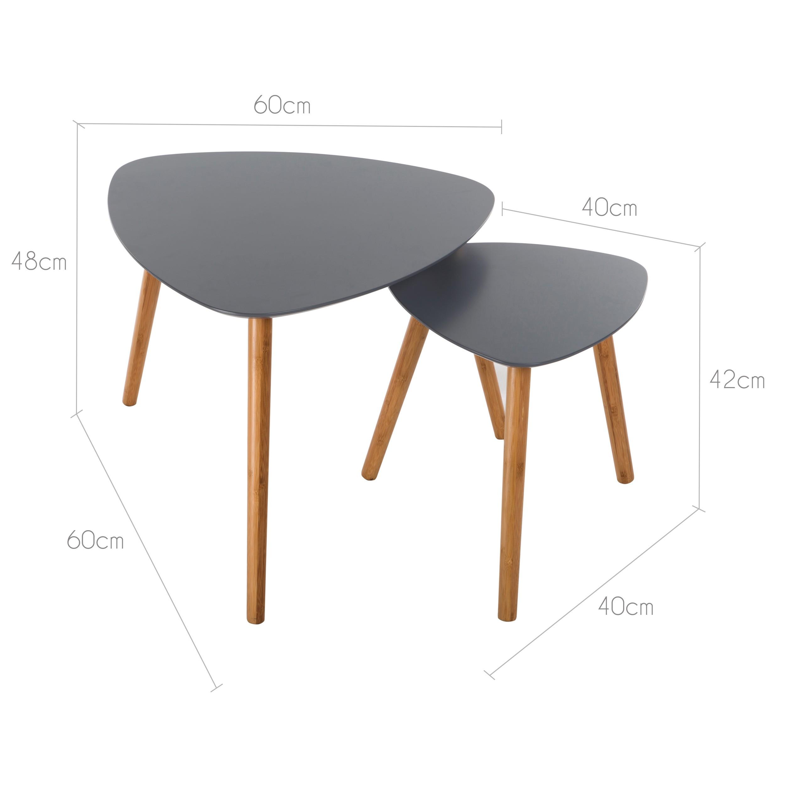 table basse scandinave grise lot de 2 commandez nos tables basses scandinaves grises lot de. Black Bedroom Furniture Sets. Home Design Ideas