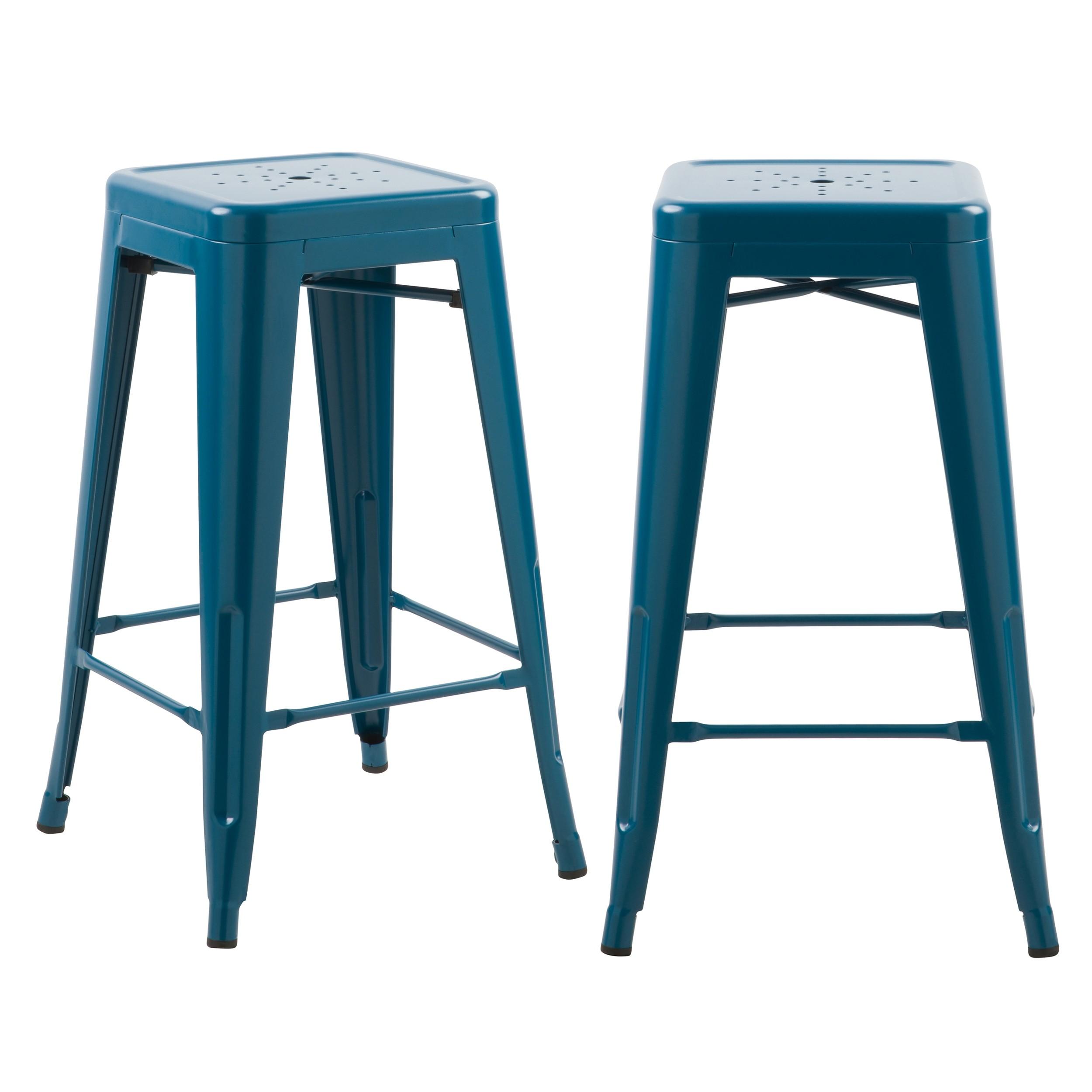 acheter tabouret de bar bleu mat