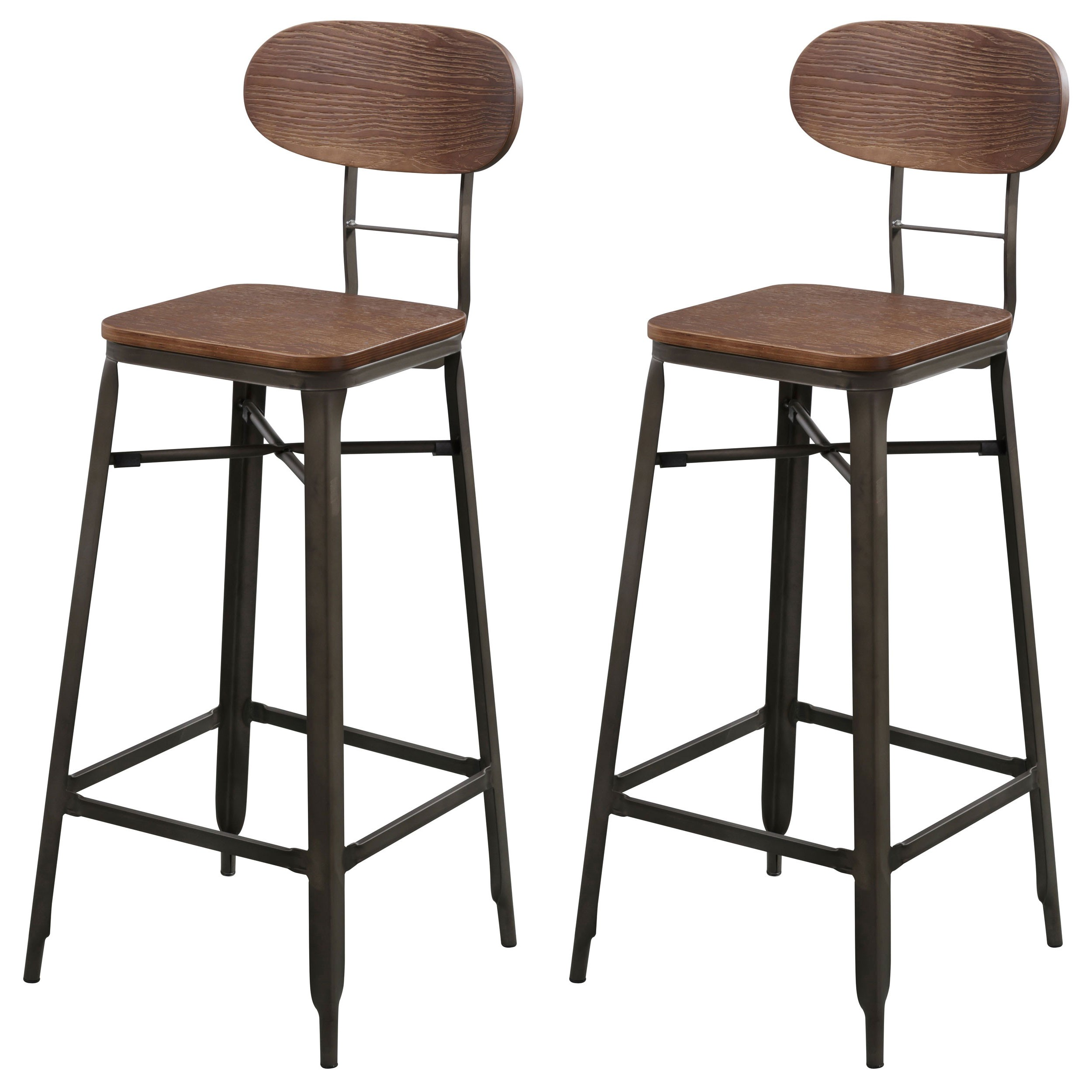 tabouret de bar woody lot de 2 achetez les tabourets. Black Bedroom Furniture Sets. Home Design Ideas
