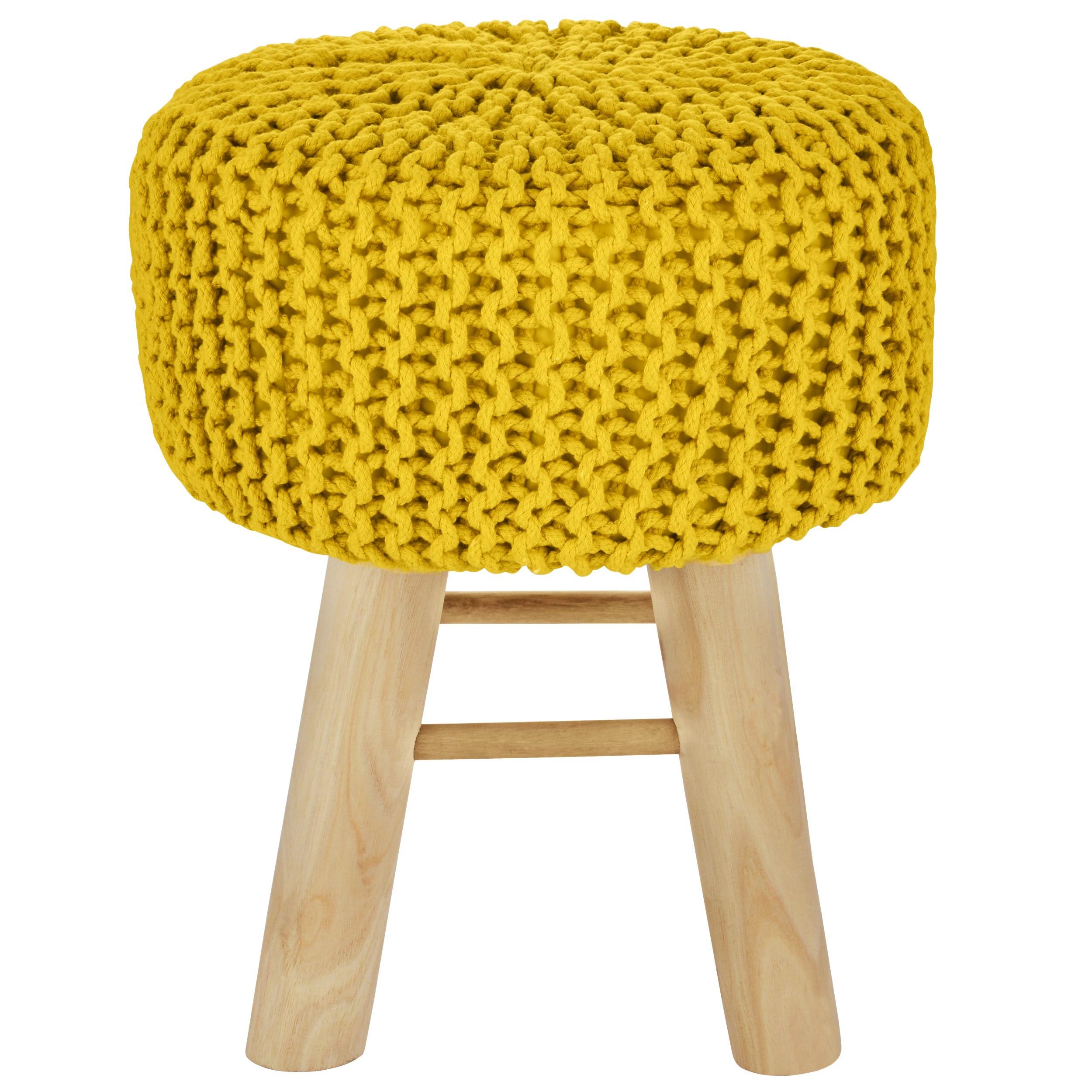 Comment Faire Du Jaune Moutarde tabouret tricot lise jaune moutarde