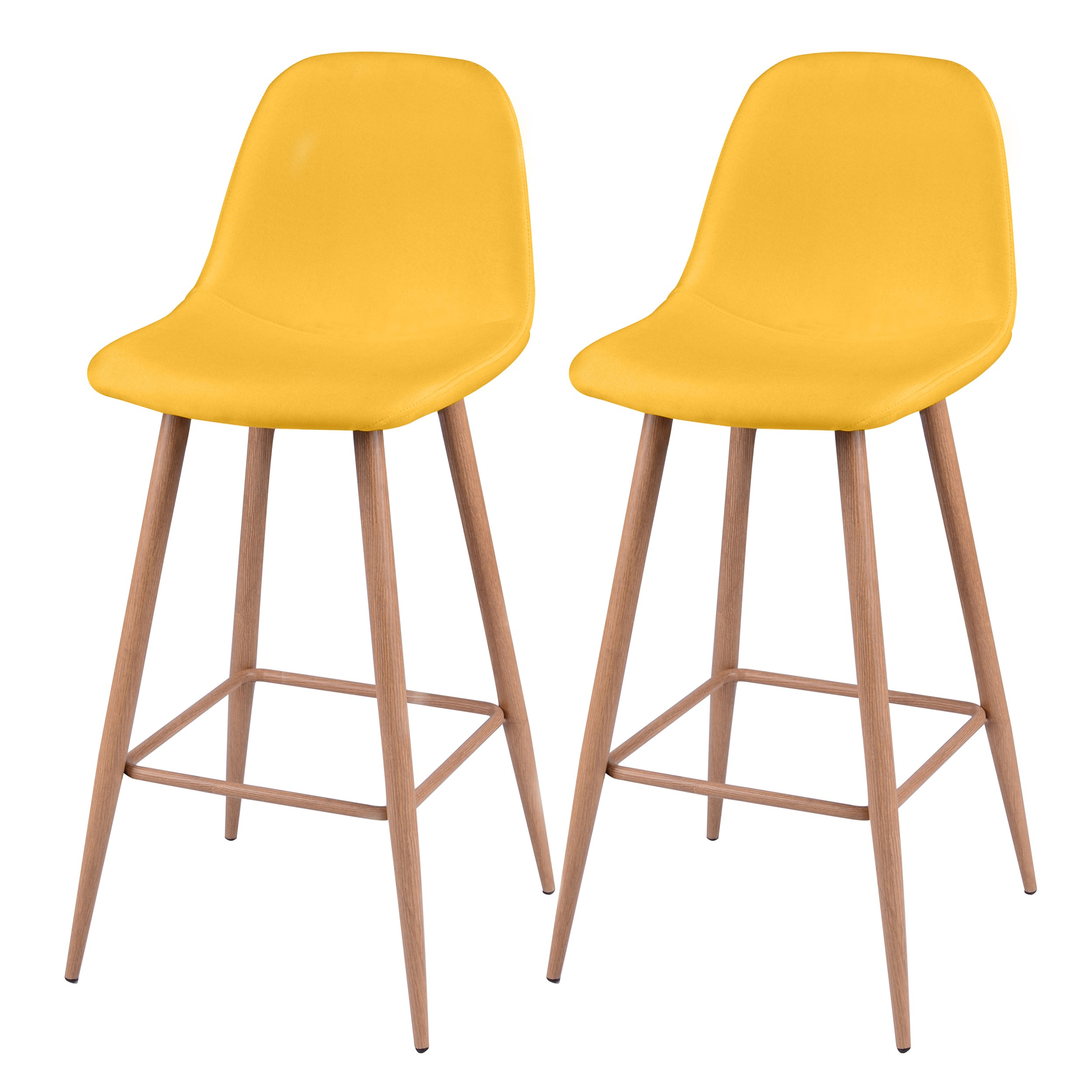 tabouret de bar fredrik jaune lot de 2 commandez nos tabourets de bar fredrik jaunes lot de. Black Bedroom Furniture Sets. Home Design Ideas