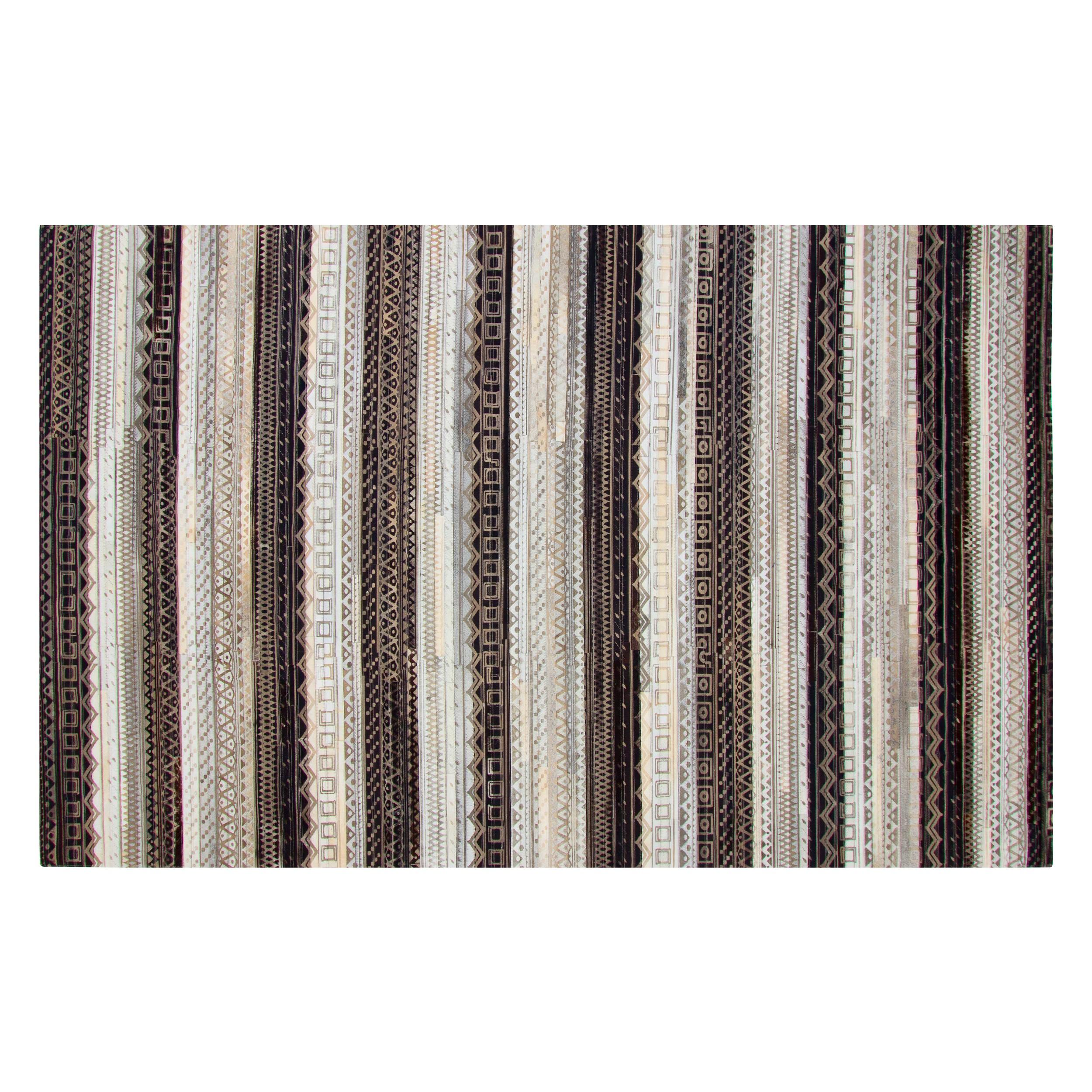 acheter tapis ethnique cuir 200 x 300 cm