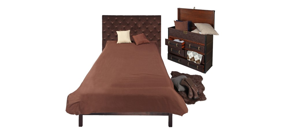 t te de lit chesterfield marron achetez nos t tes de lit. Black Bedroom Furniture Sets. Home Design Ideas
