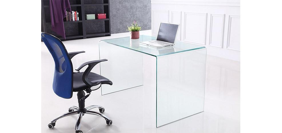 bureau en verre pas cher maison design. Black Bedroom Furniture Sets. Home Design Ideas