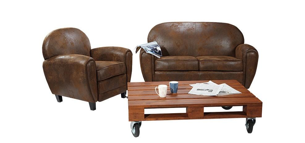 canape marron vieilli. Black Bedroom Furniture Sets. Home Design Ideas