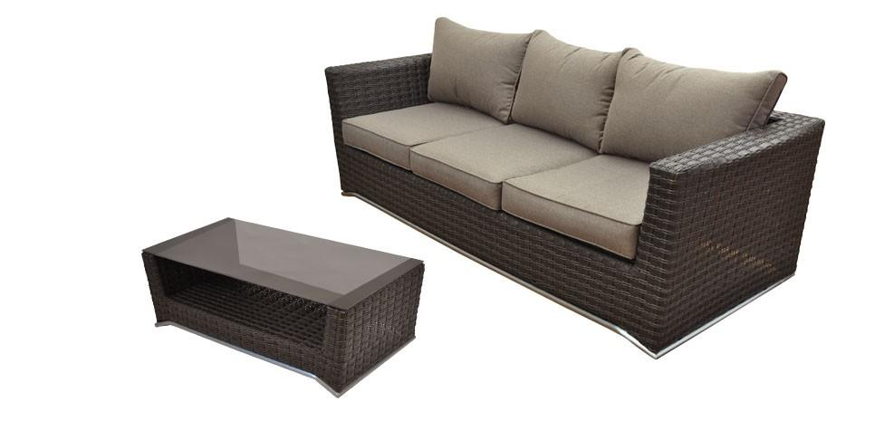 canap 3 places table basse malaga marron choisissez nos canap s 3 places tables basses. Black Bedroom Furniture Sets. Home Design Ideas