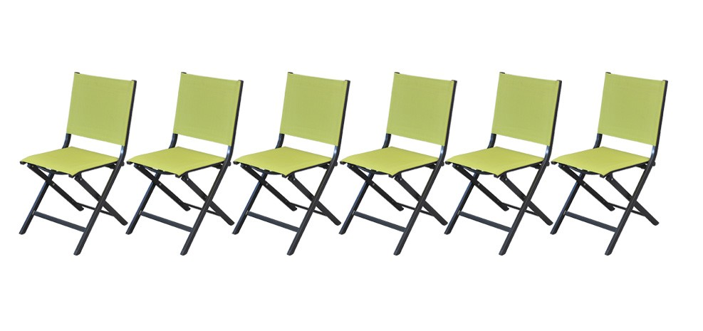 chaise de jardin terra jaune lime lot de 6 achetez notre lot de 6 chaises de jardin terra. Black Bedroom Furniture Sets. Home Design Ideas