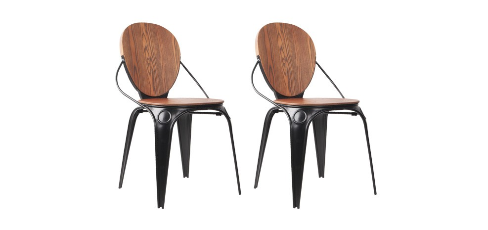 chaise louis industry noire craquez pour nos chaises louis industry noires design rdv d co. Black Bedroom Furniture Sets. Home Design Ideas