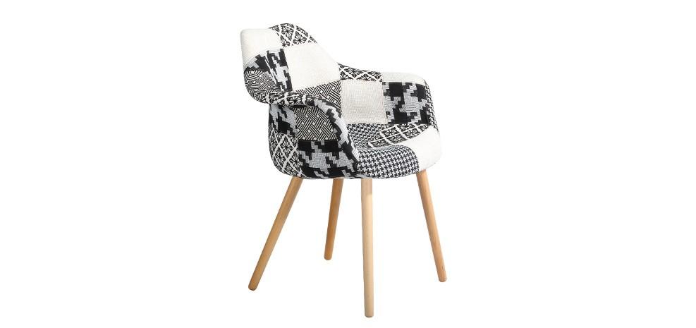 chaise anssen patchwork grise achetez les chaises anssen patchwork grises rdv d co. Black Bedroom Furniture Sets. Home Design Ideas