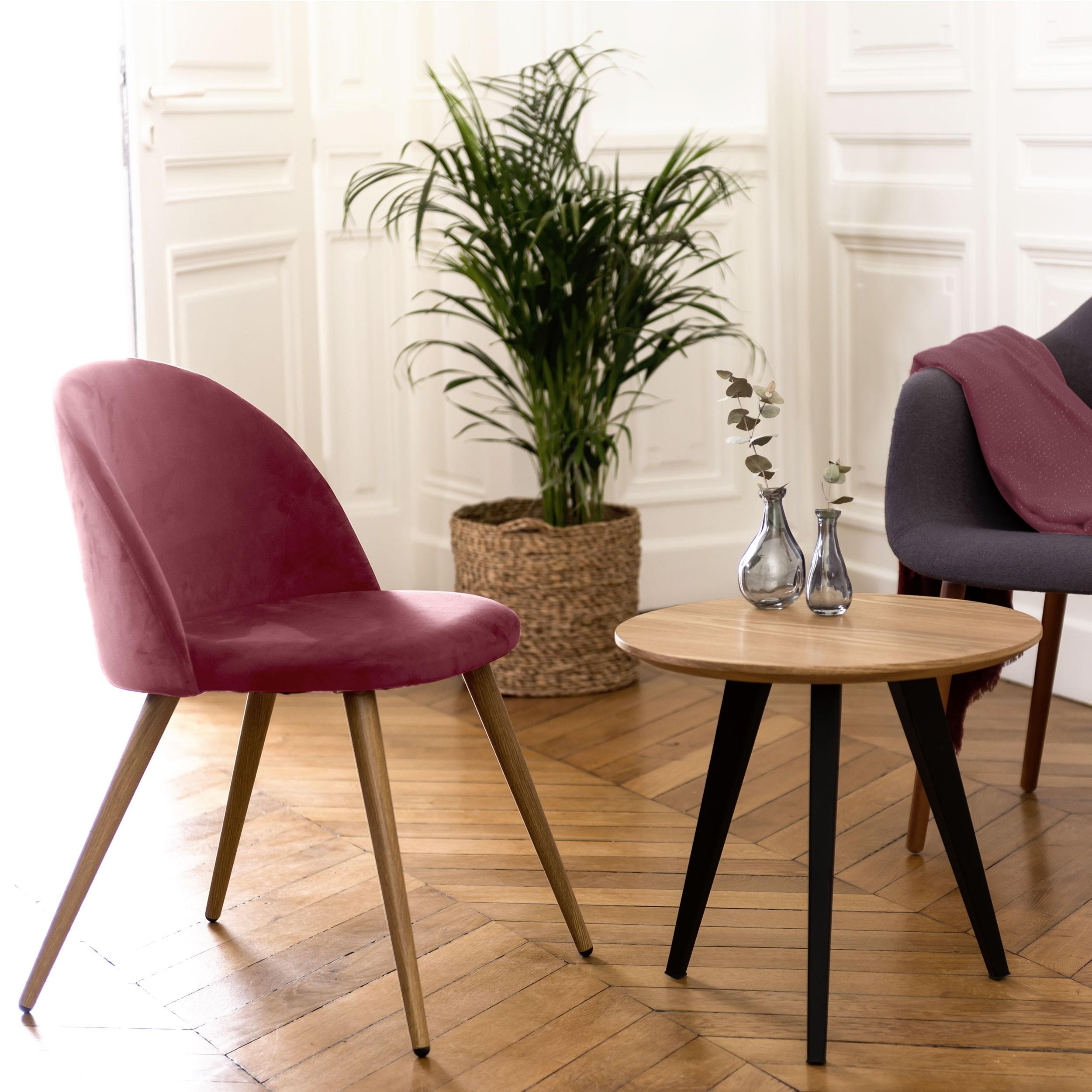 chaise cozy en velours rose lot de 2 choisissez les chaises cozy en velours rose lot de 2. Black Bedroom Furniture Sets. Home Design Ideas