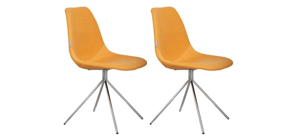 Chaise Austin jaune (Lot de 2)
