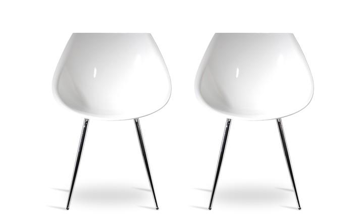 chaise blanche 60 39 s offrez vous un chaise r tro blanc rdv d co. Black Bedroom Furniture Sets. Home Design Ideas